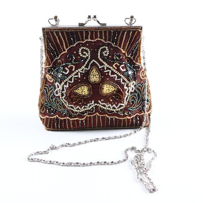 PRIORITY-Beaded Frame Purse