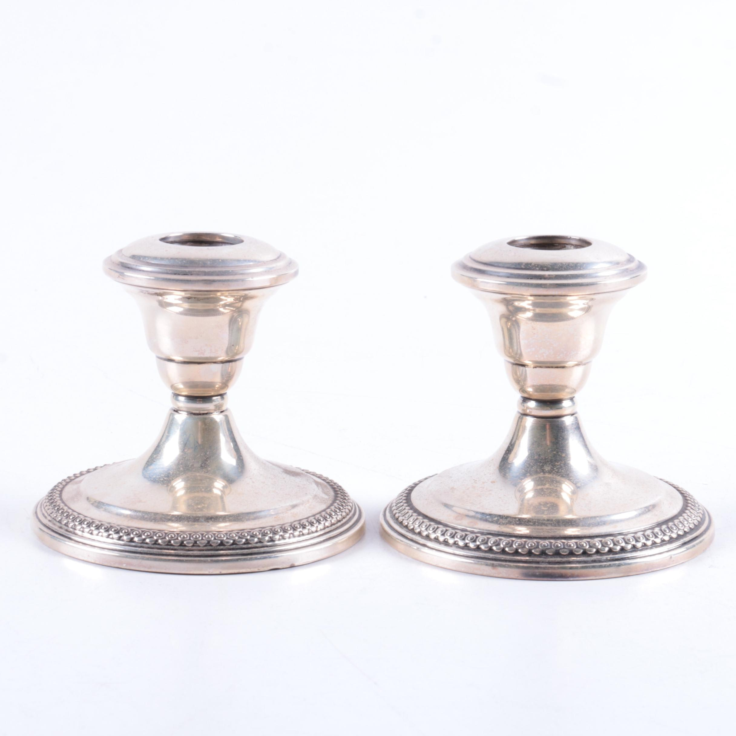 La Pierre Mfg. Co. Weighted Sterling Silver Candlestick Holders