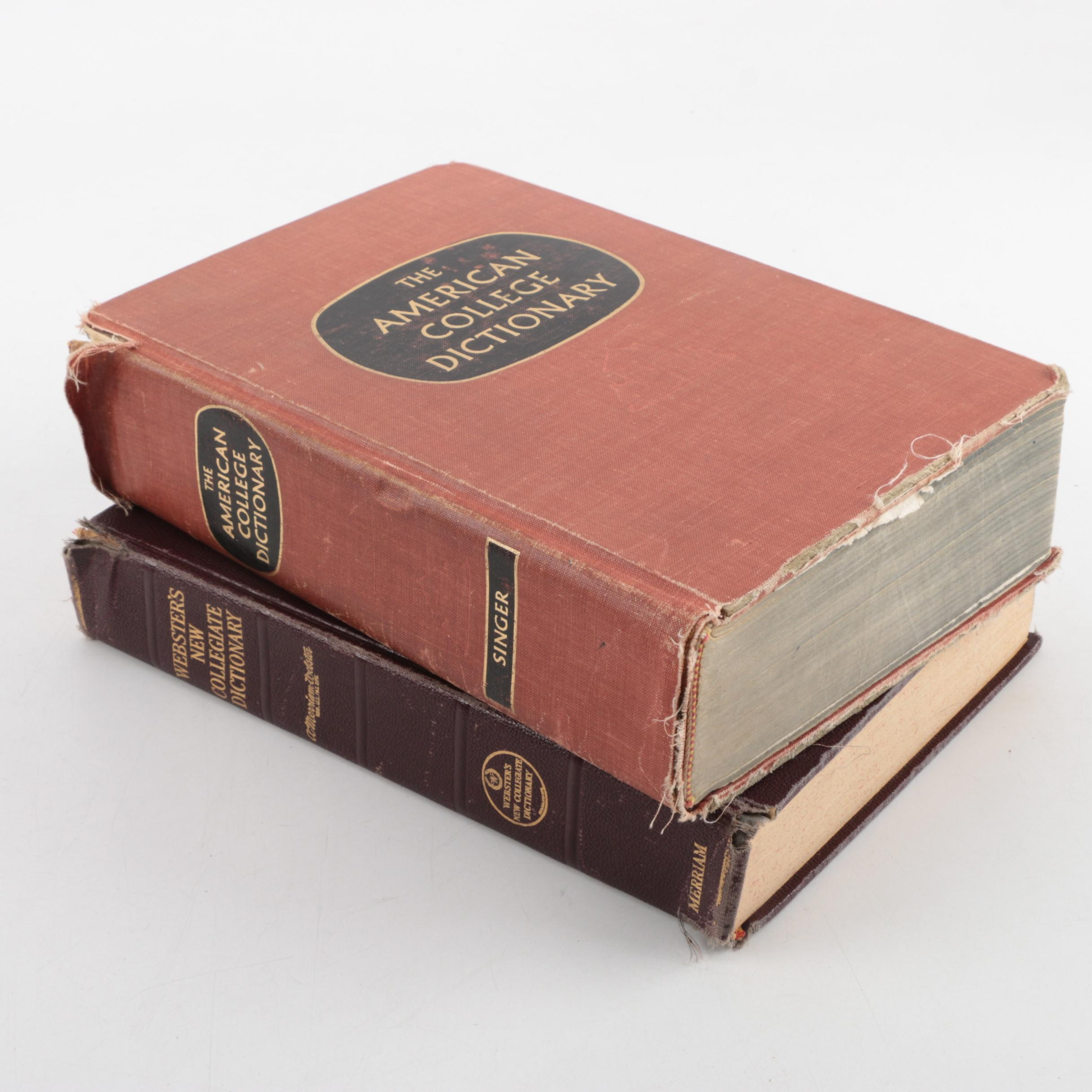 Vintage Collegiate Dictionaries