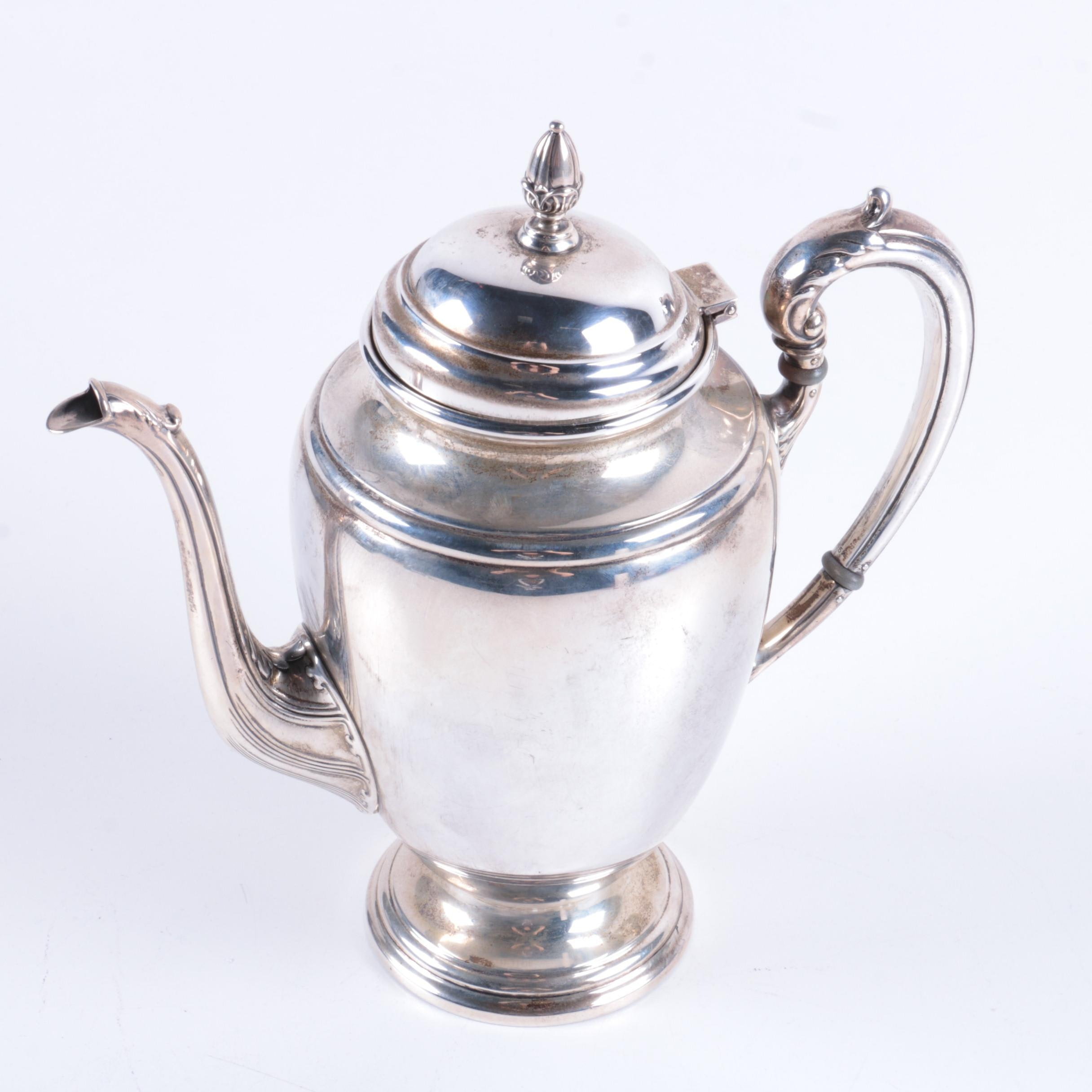 International Silver Co. Sterling Silver Coffee Pot