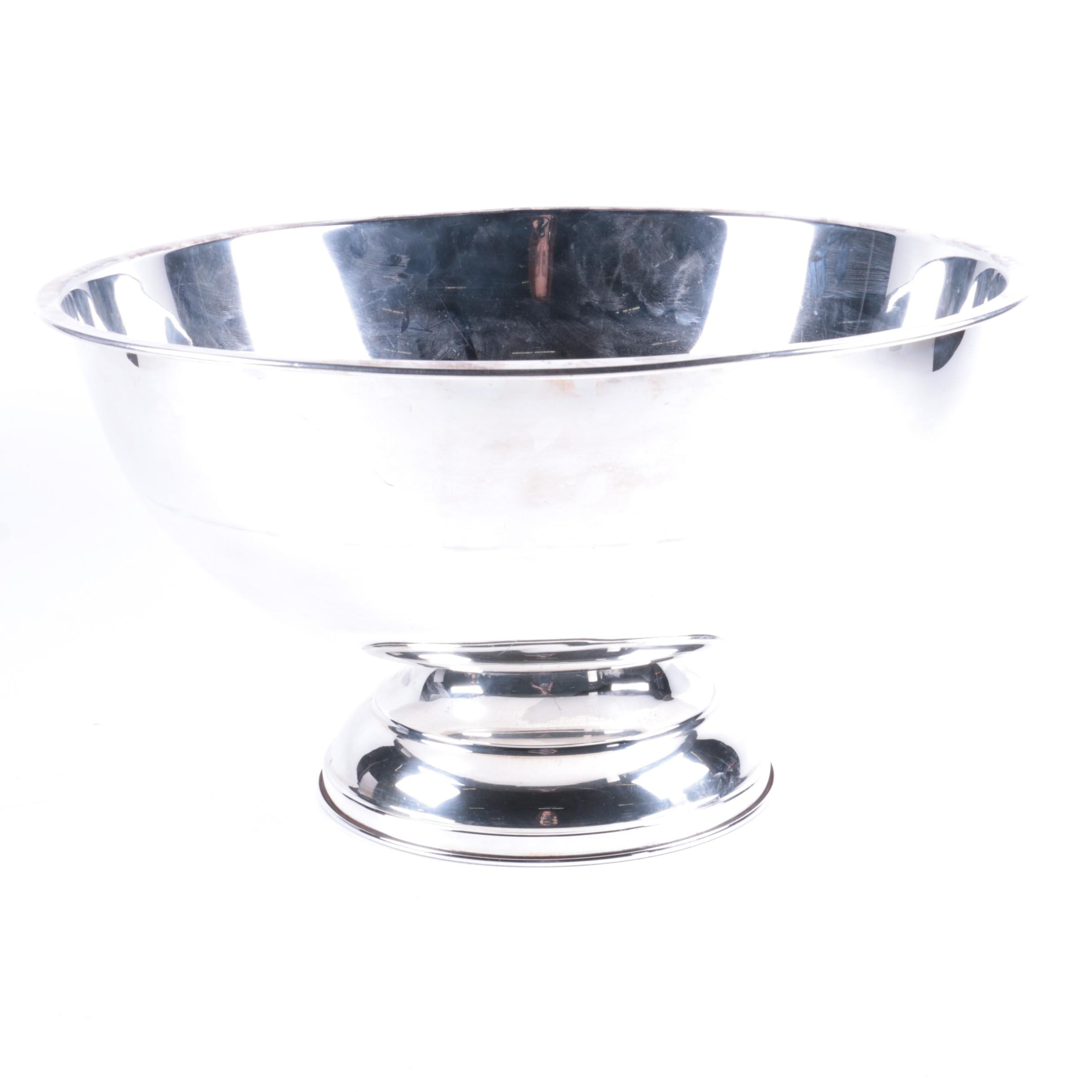Silver Plate Footed Bowl