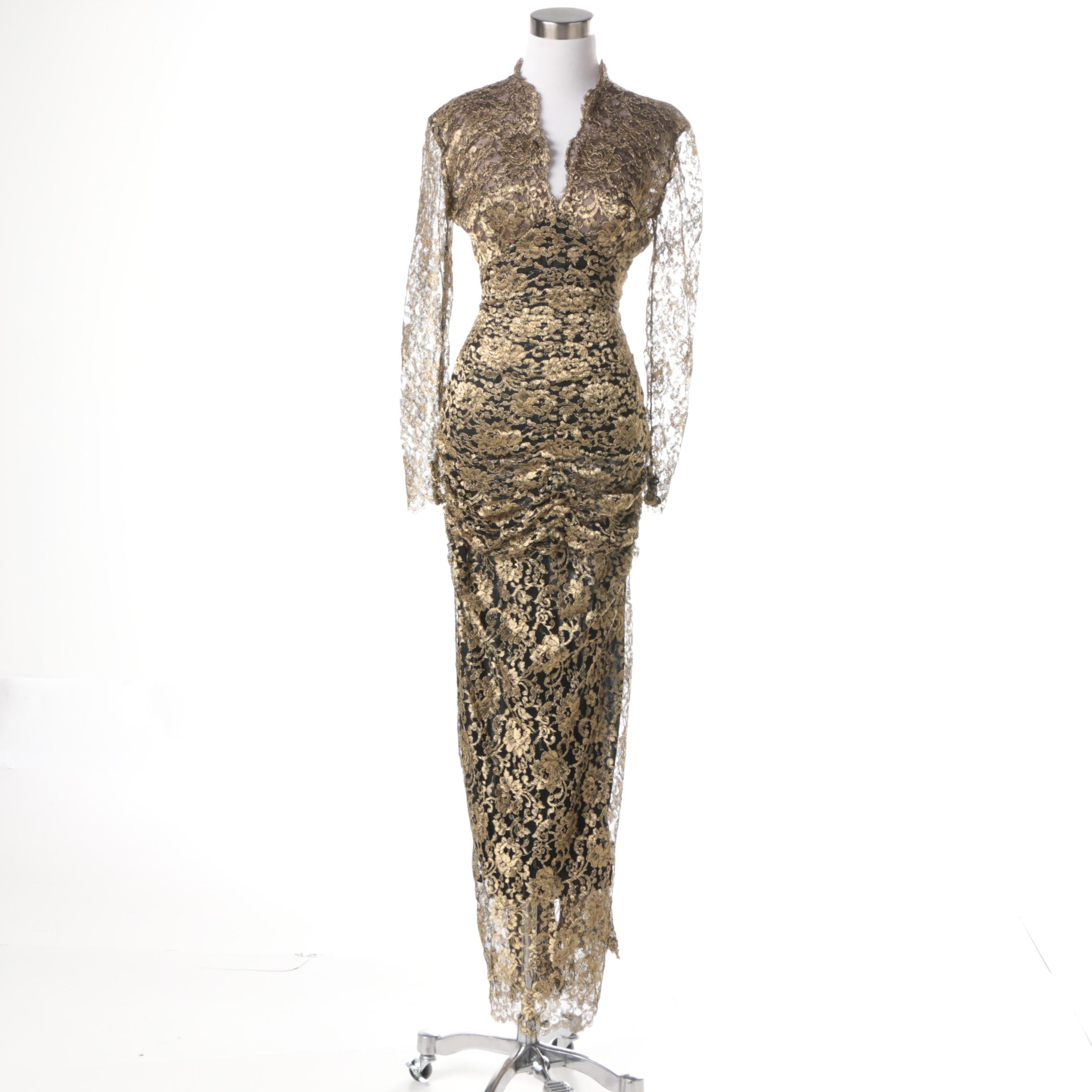 Isabelle Allard Embroidered Evening Gown