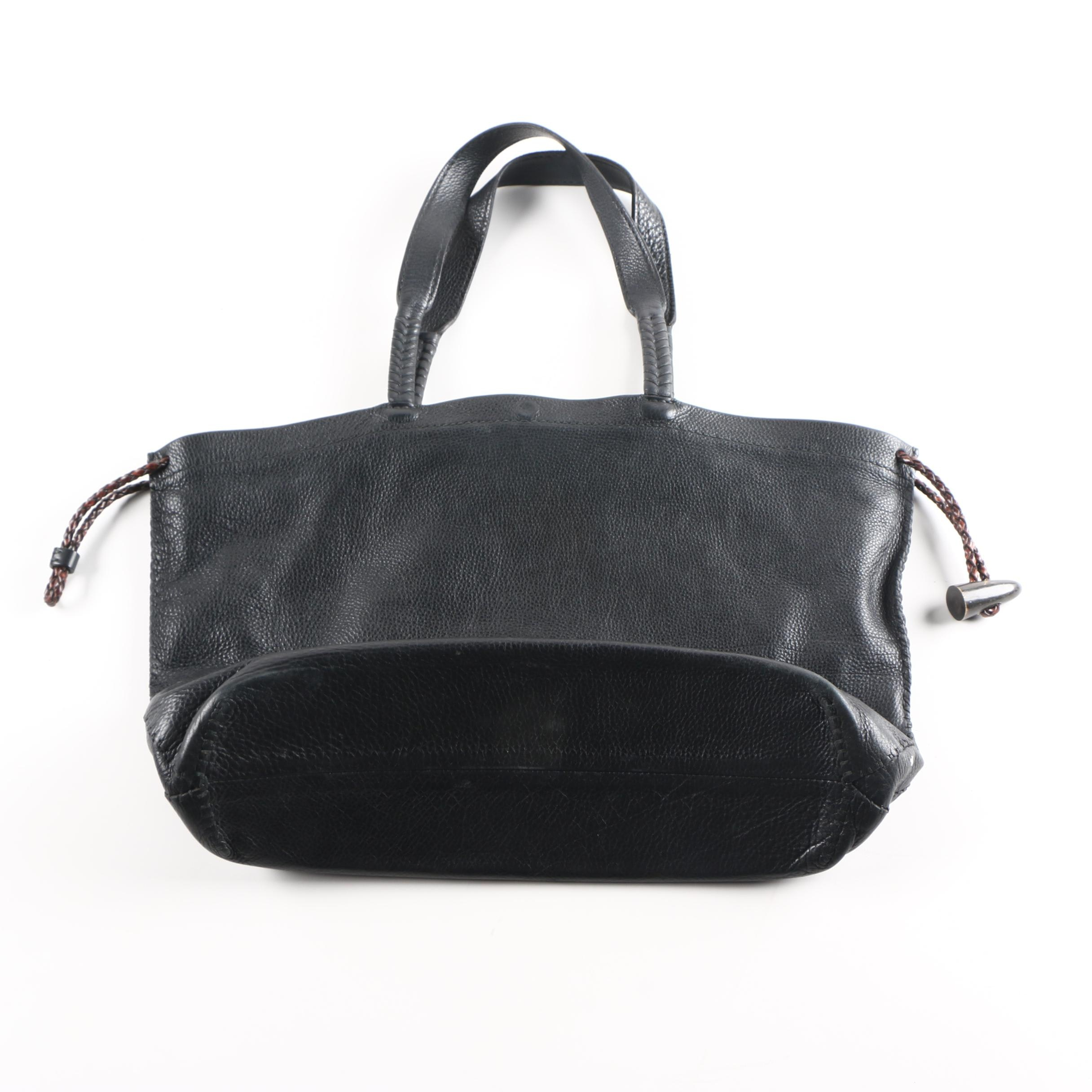 Henry Beguelin Black Leather Tote