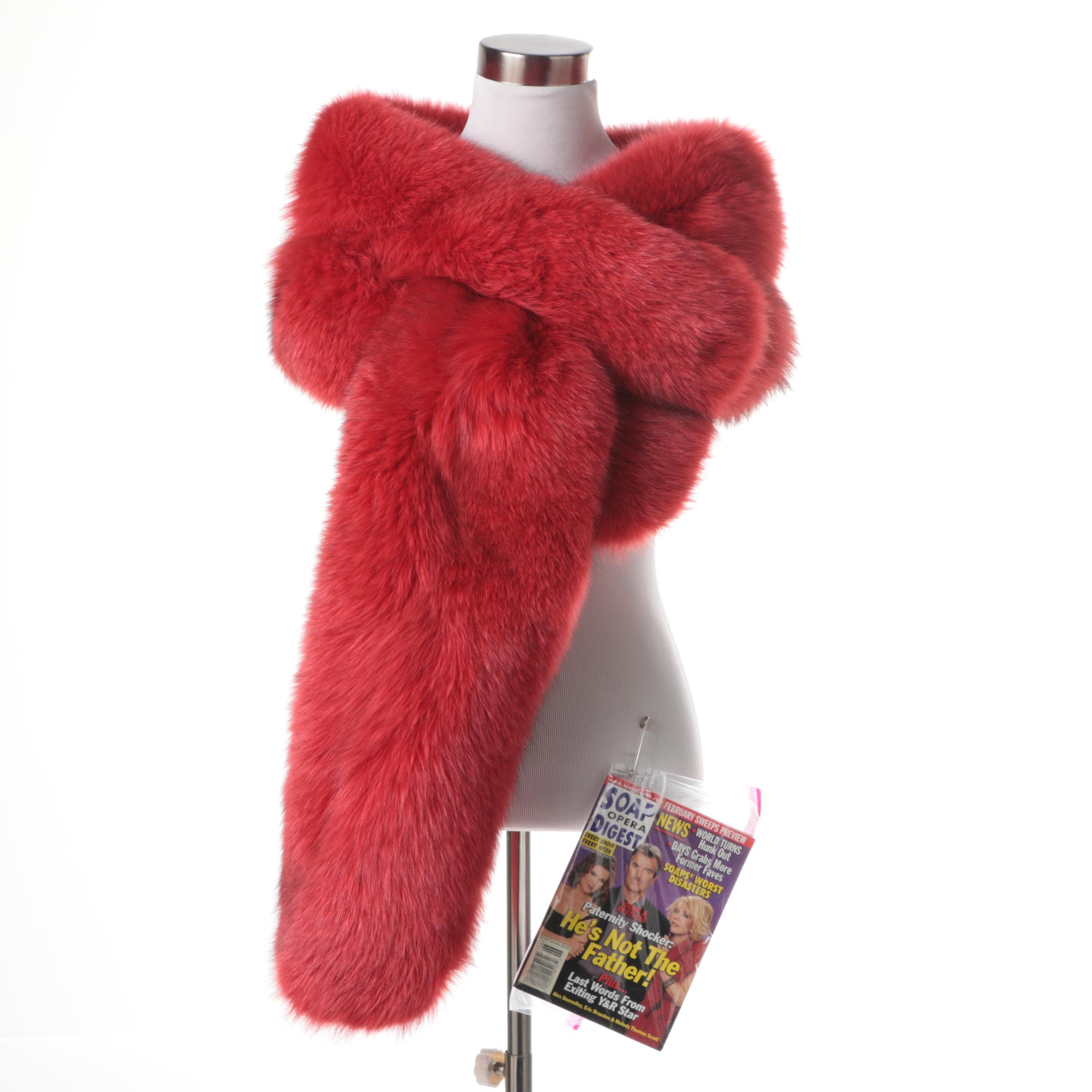 Rene Lezard Red Fox Fur Stole