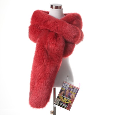 Rene Lezard Red Fox Fur Stole