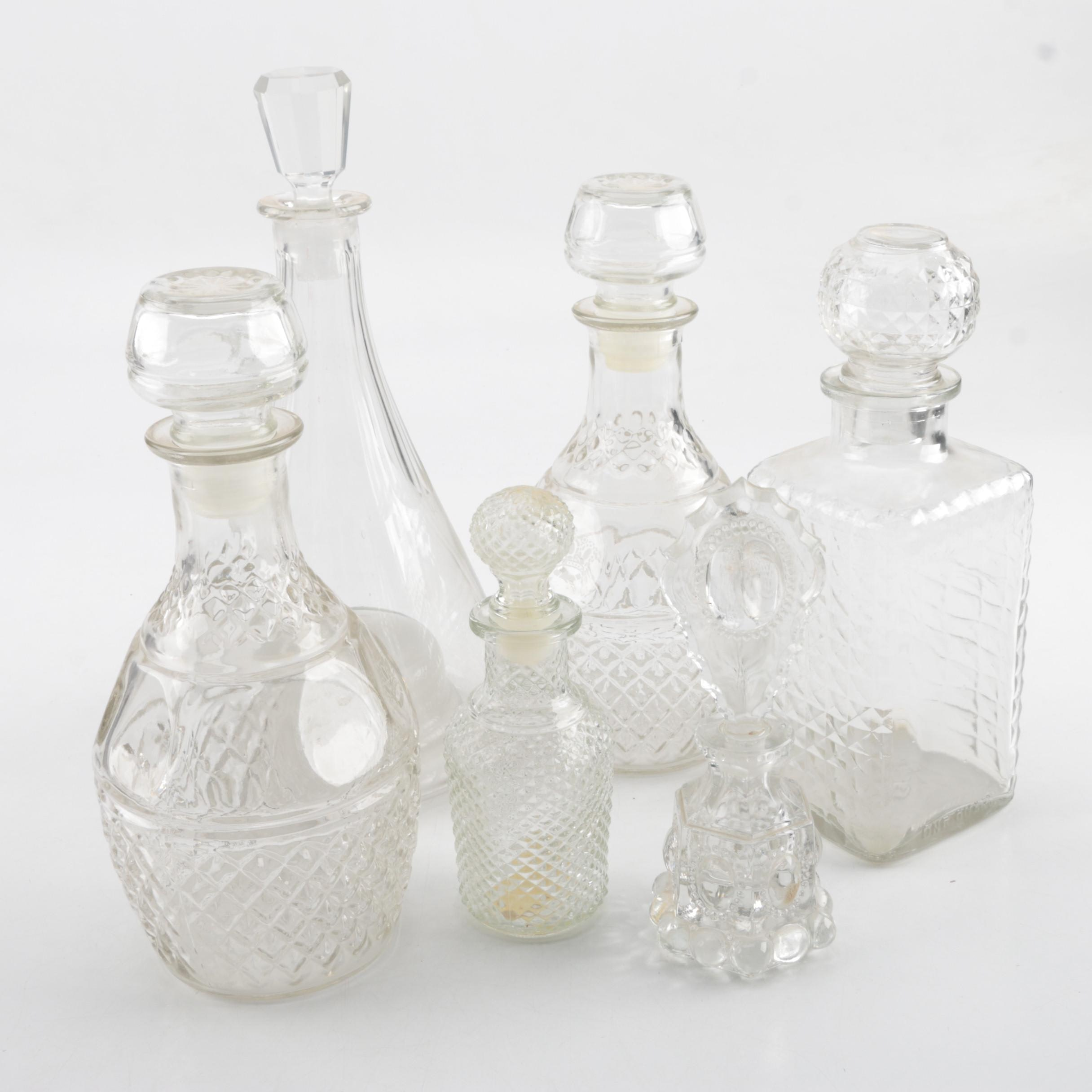 Glass Decanters and Perfume Bottles