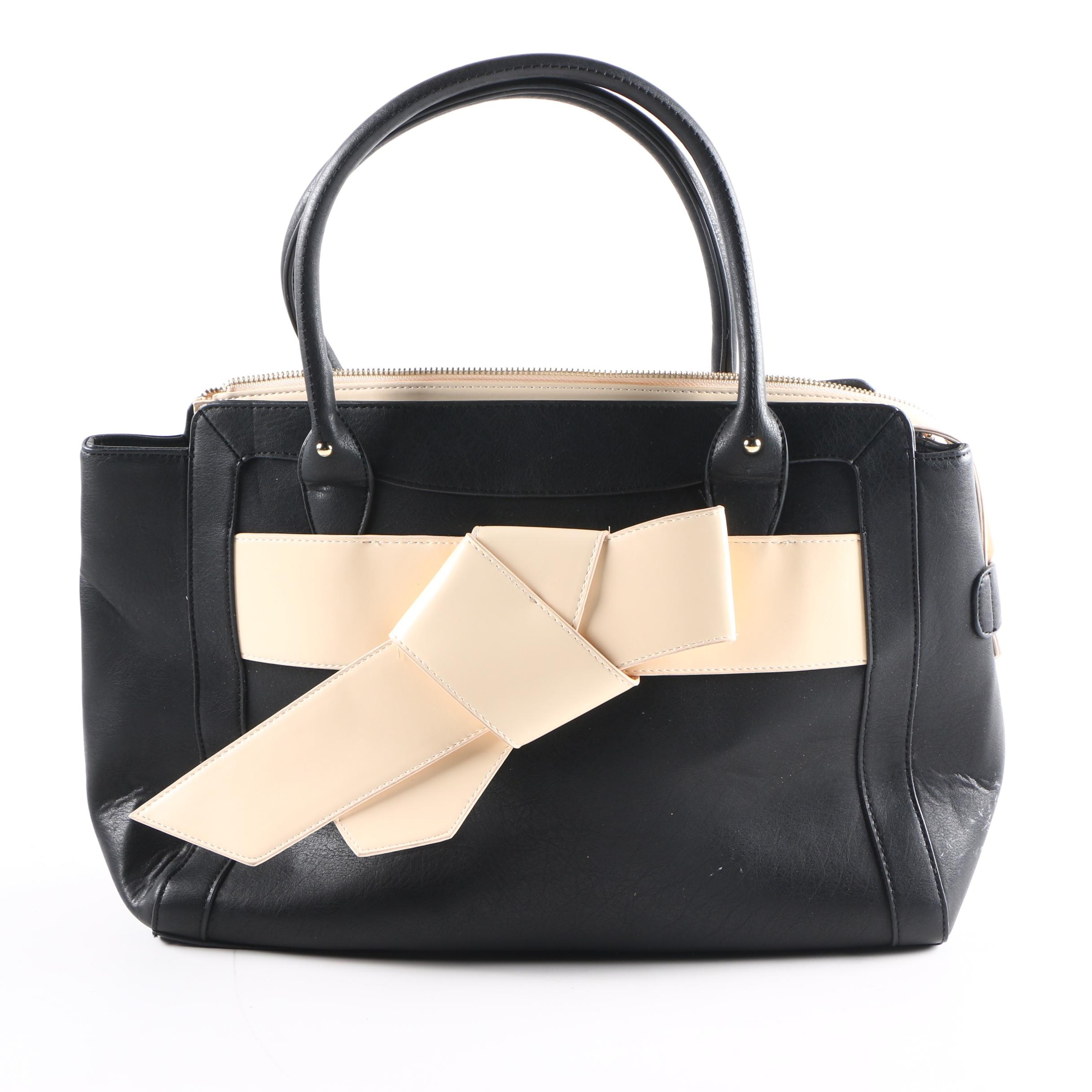 Just Fab Faux Leather Handbag