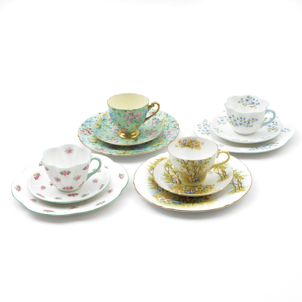 Collection of Shelley China Dessert Sets