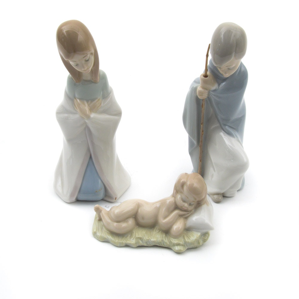 "Lladró ""Nativity"" Porcelain Figurines"