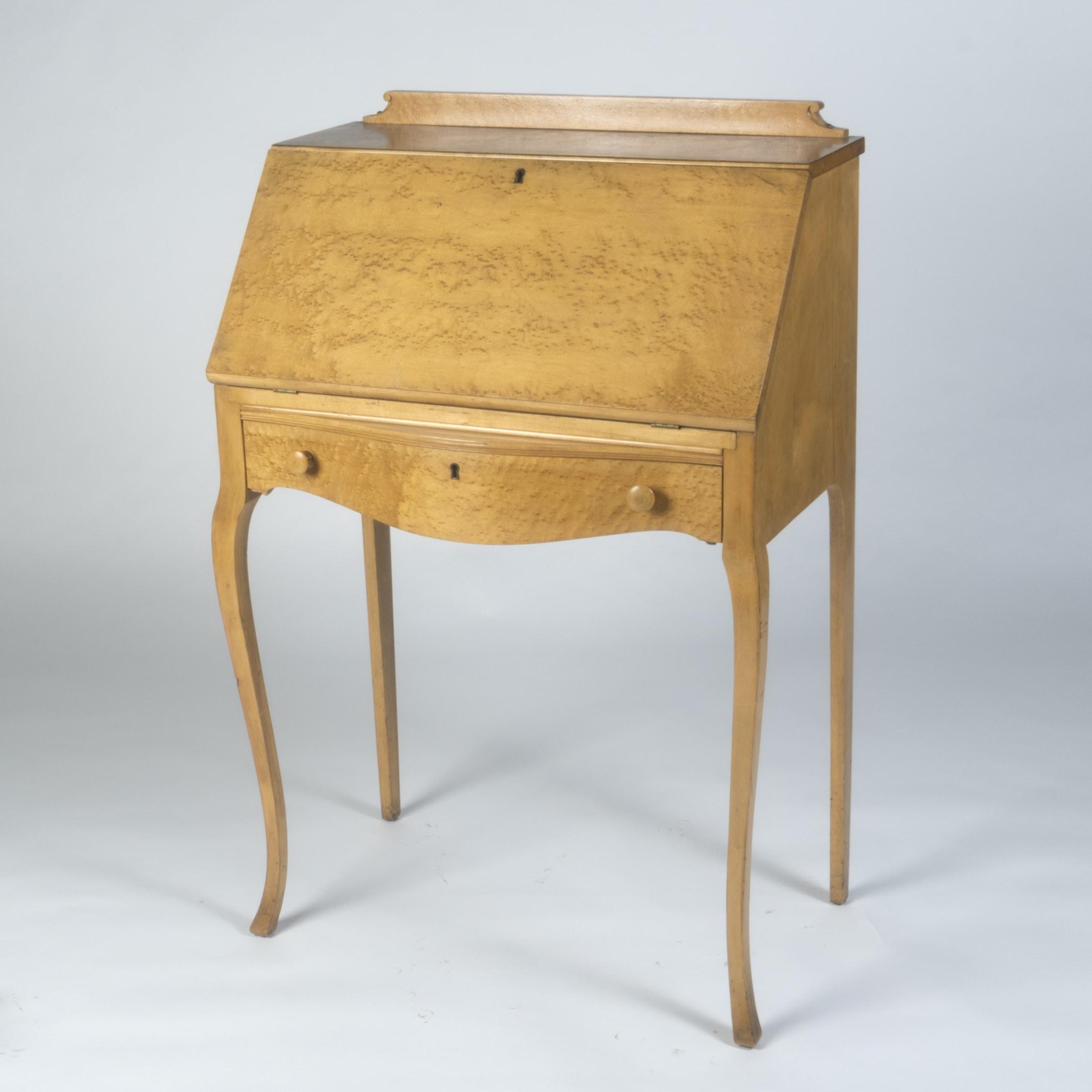 Birdseye Maple Fall-Front Desk