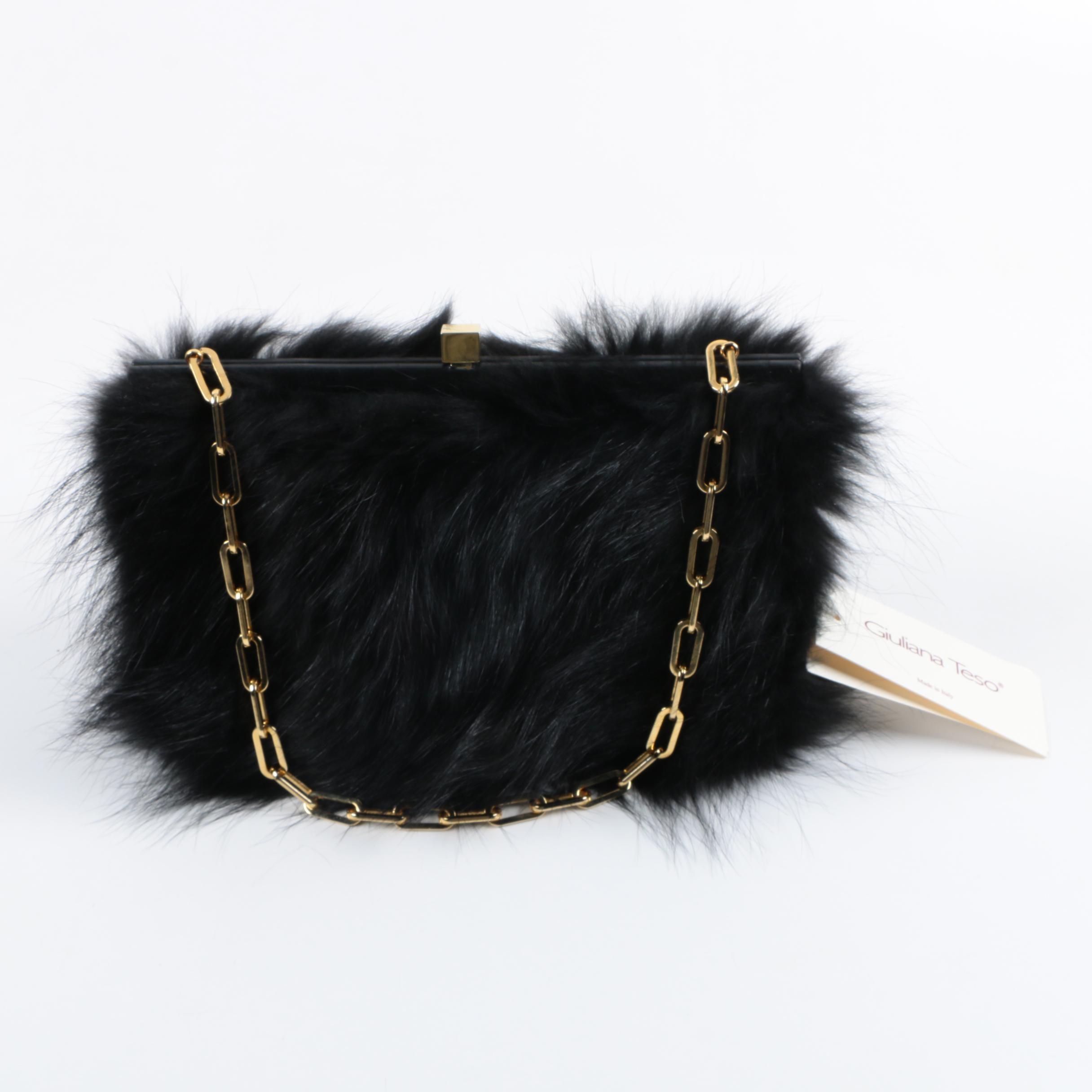 Giuliana Teso for Neiman Marcus Raccoon Fur Handbag