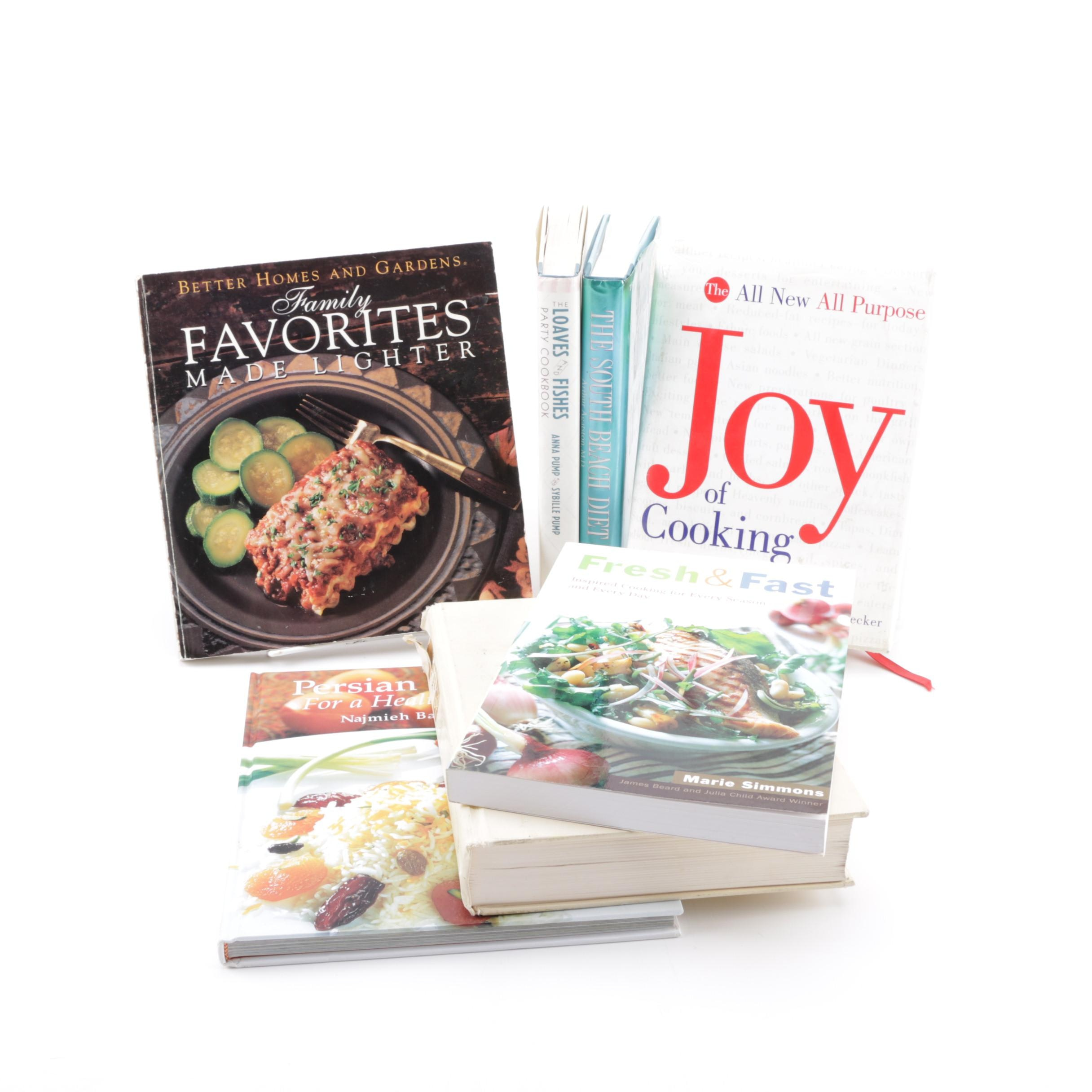 """Assorted Cookbooks featuring """"Joy of Cooking"""""""