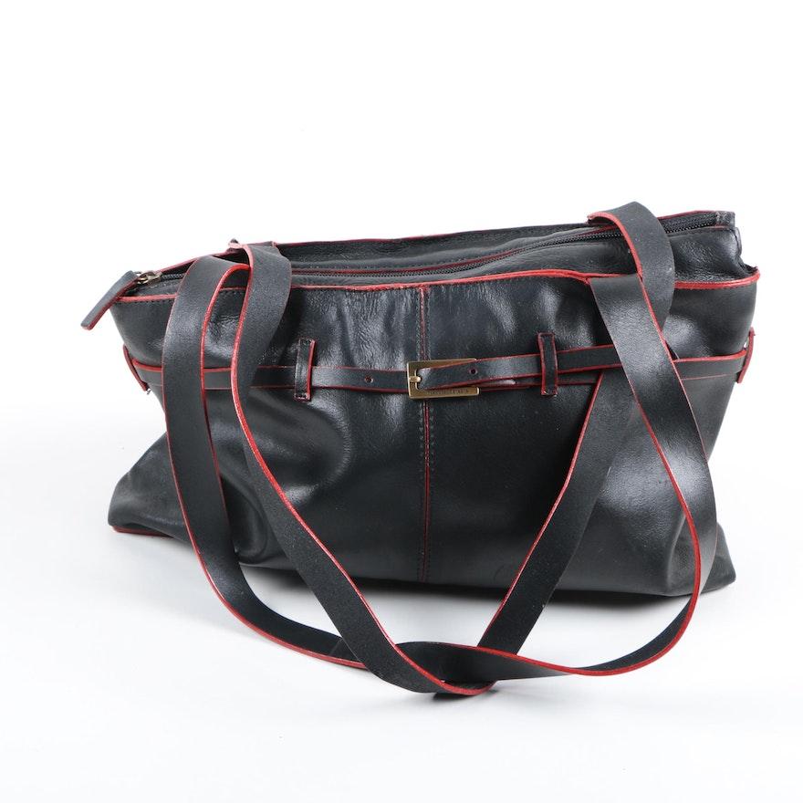 e30fb71680d8 Francesco Biasa Leather Carryall Bag   EBTH