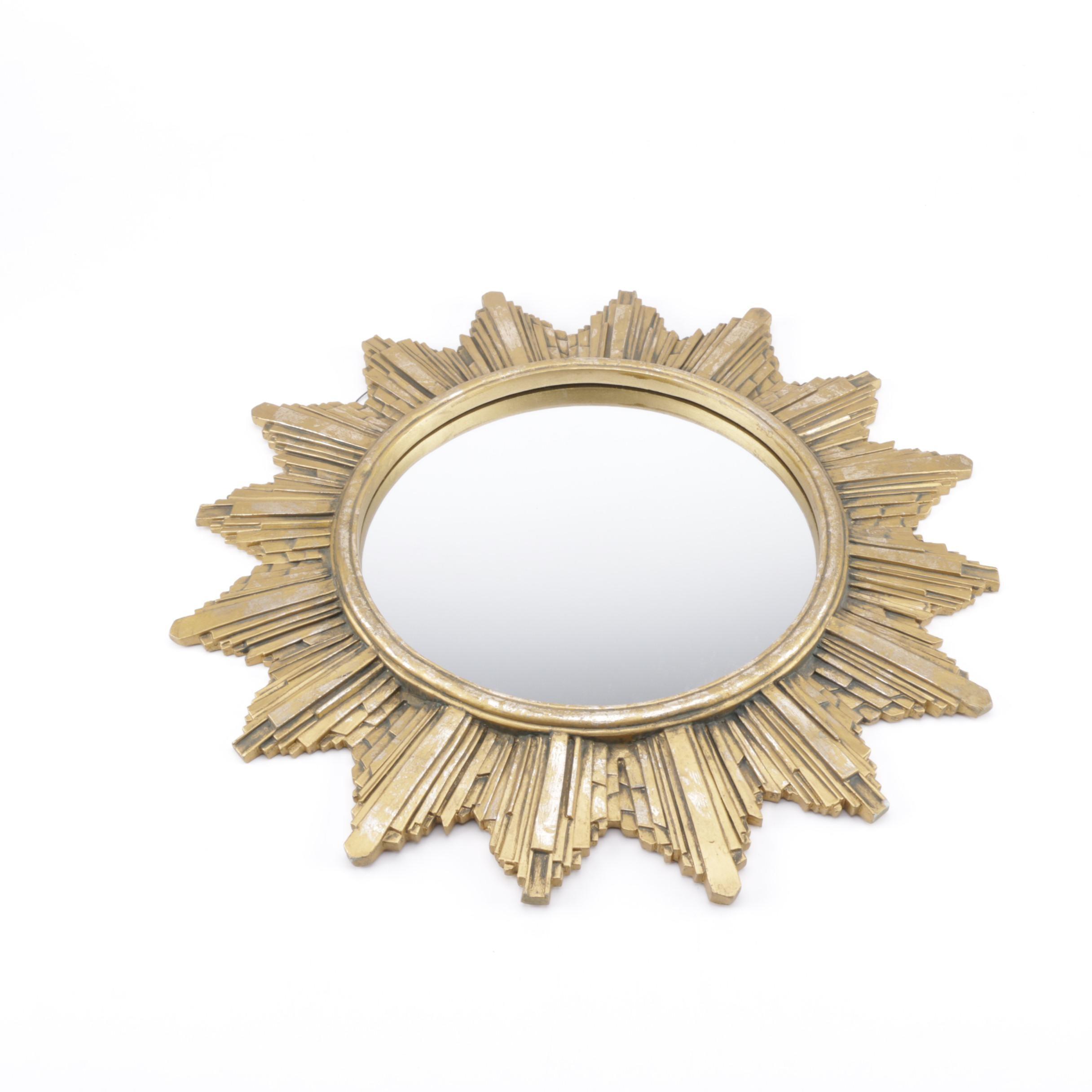 Sunburst Framed Wall Mirror
