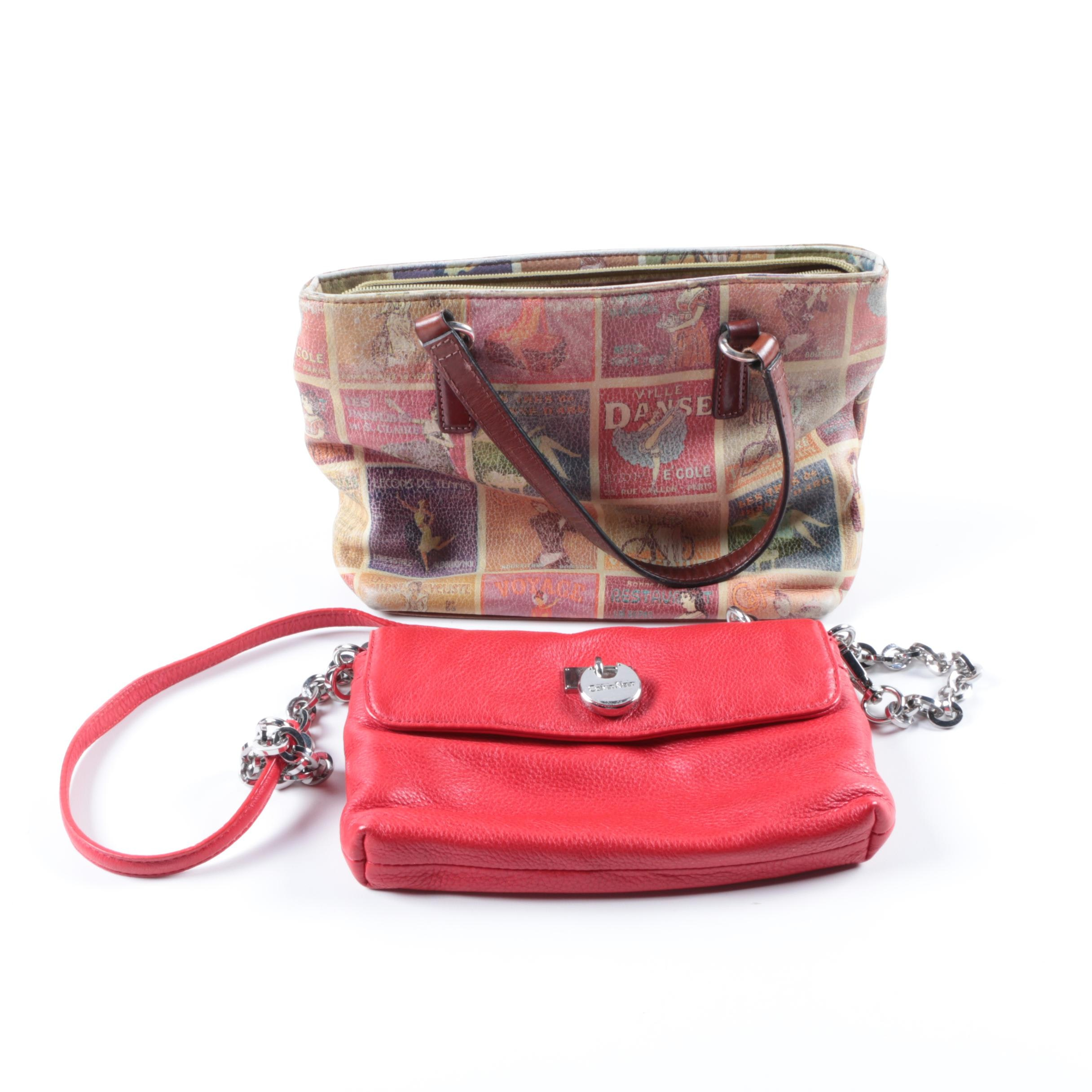 Fossil Handbag and Calvin Klein Crossbody Purse