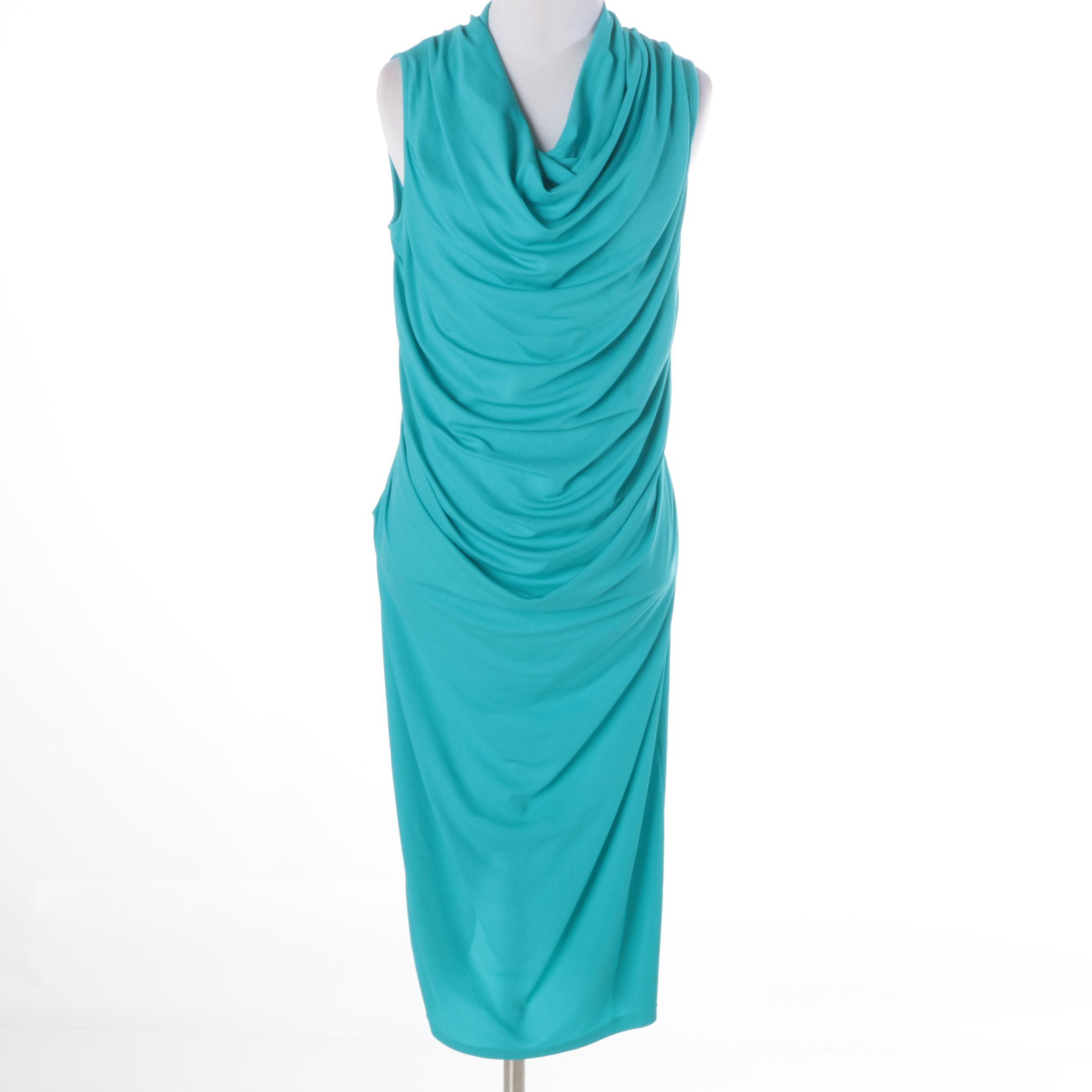 Michael Kors Turquoise Draped Dress