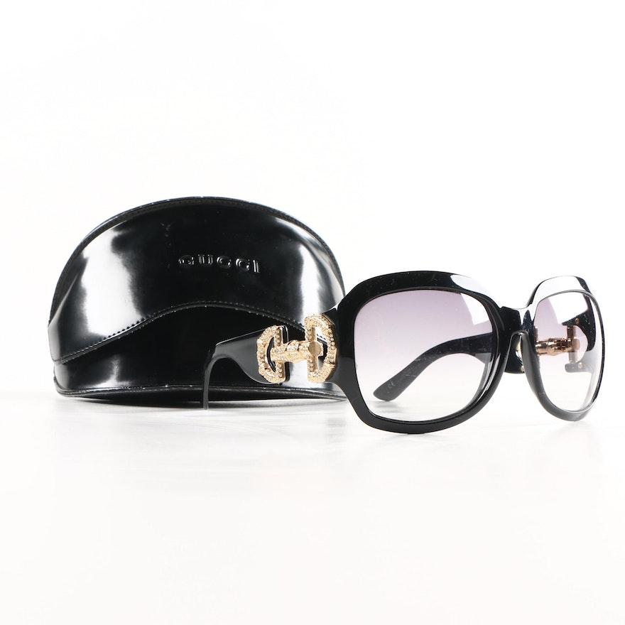 eb3692dd7717 Gucci GG 3017 S Horsebit Sunglasses   EBTH