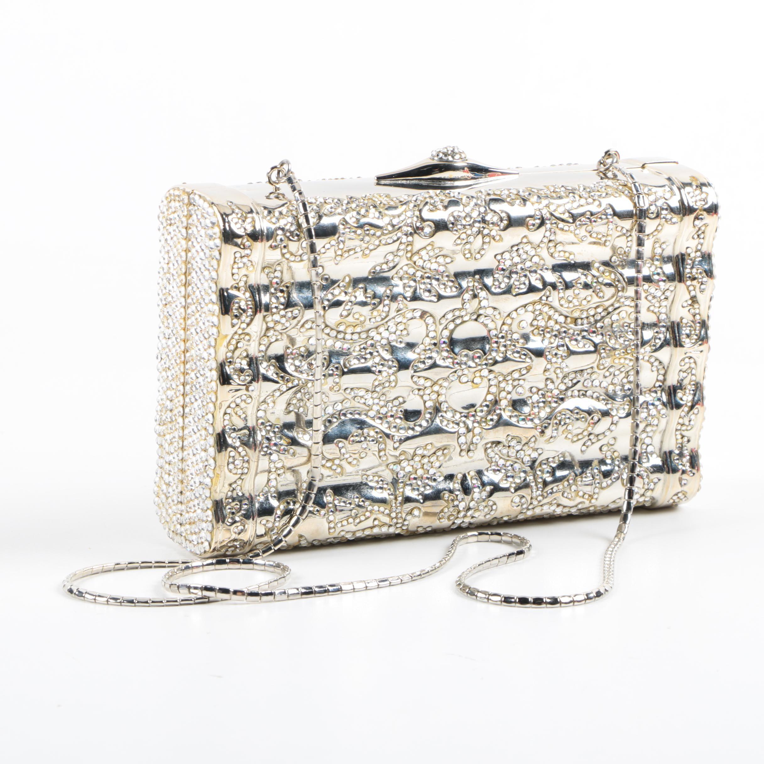 Judith Leiber Crystal Rhinestone Clutch Handbag