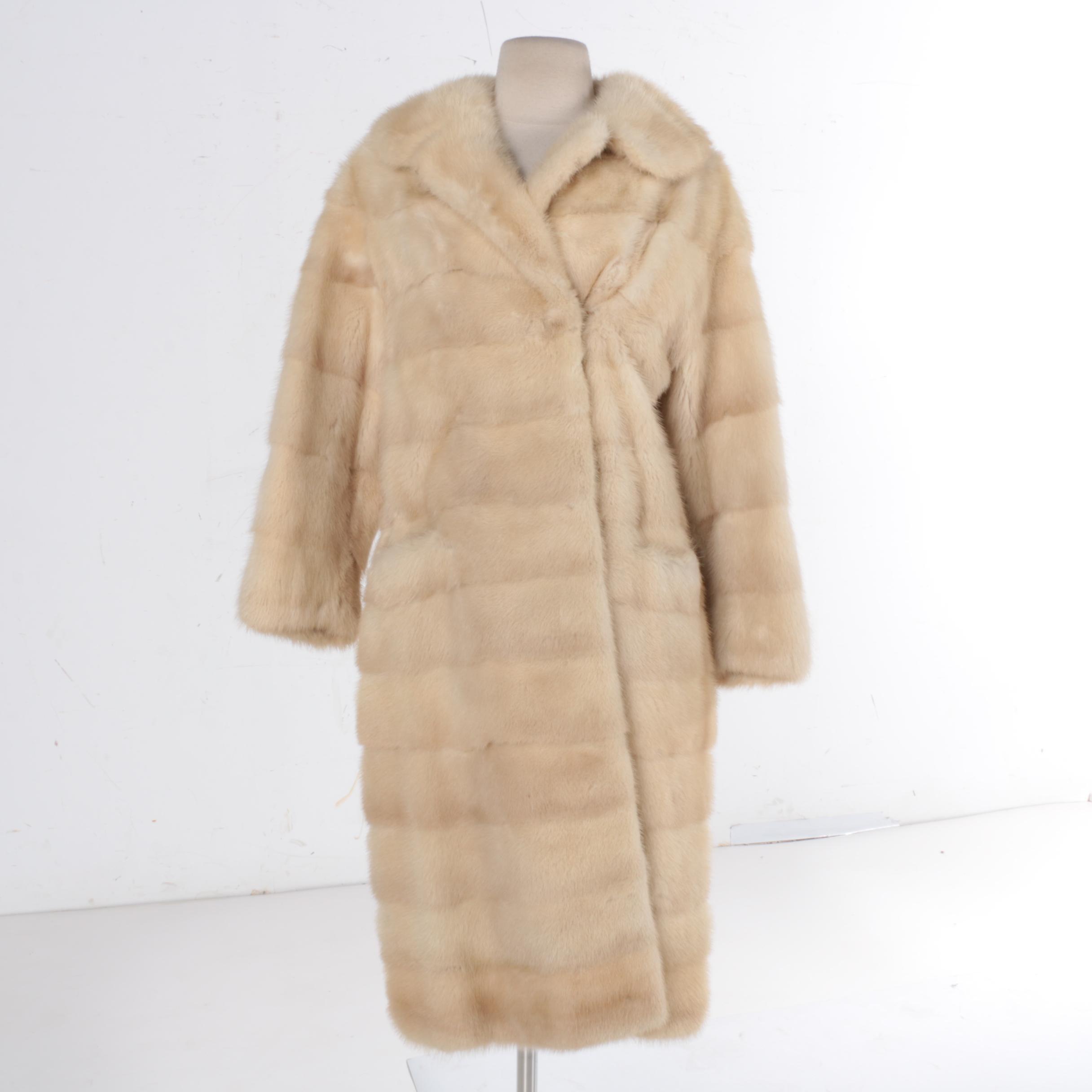 Vintage Platinum Mink Fur Coat