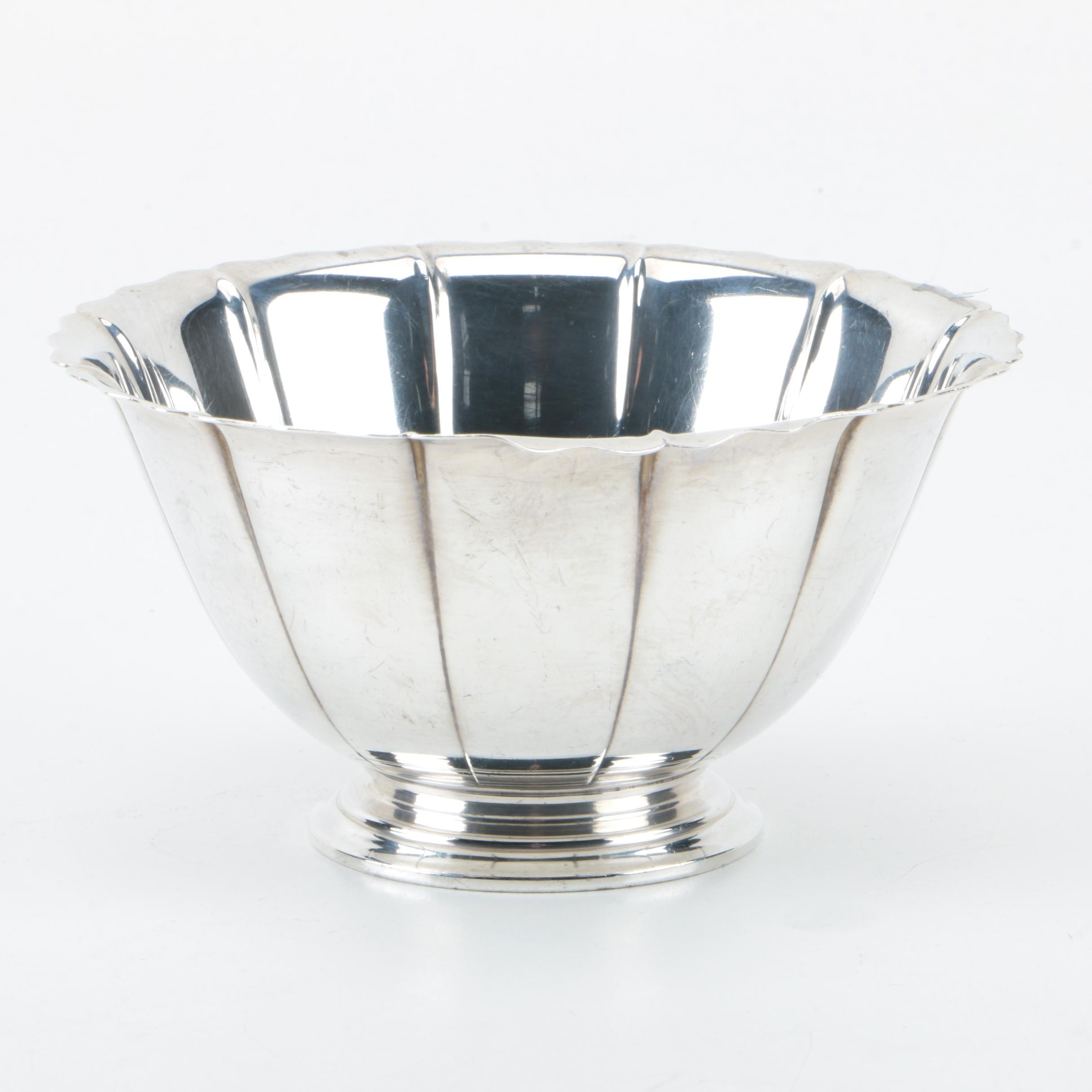 International Silver Co. Sterling Silver Nut Bowl