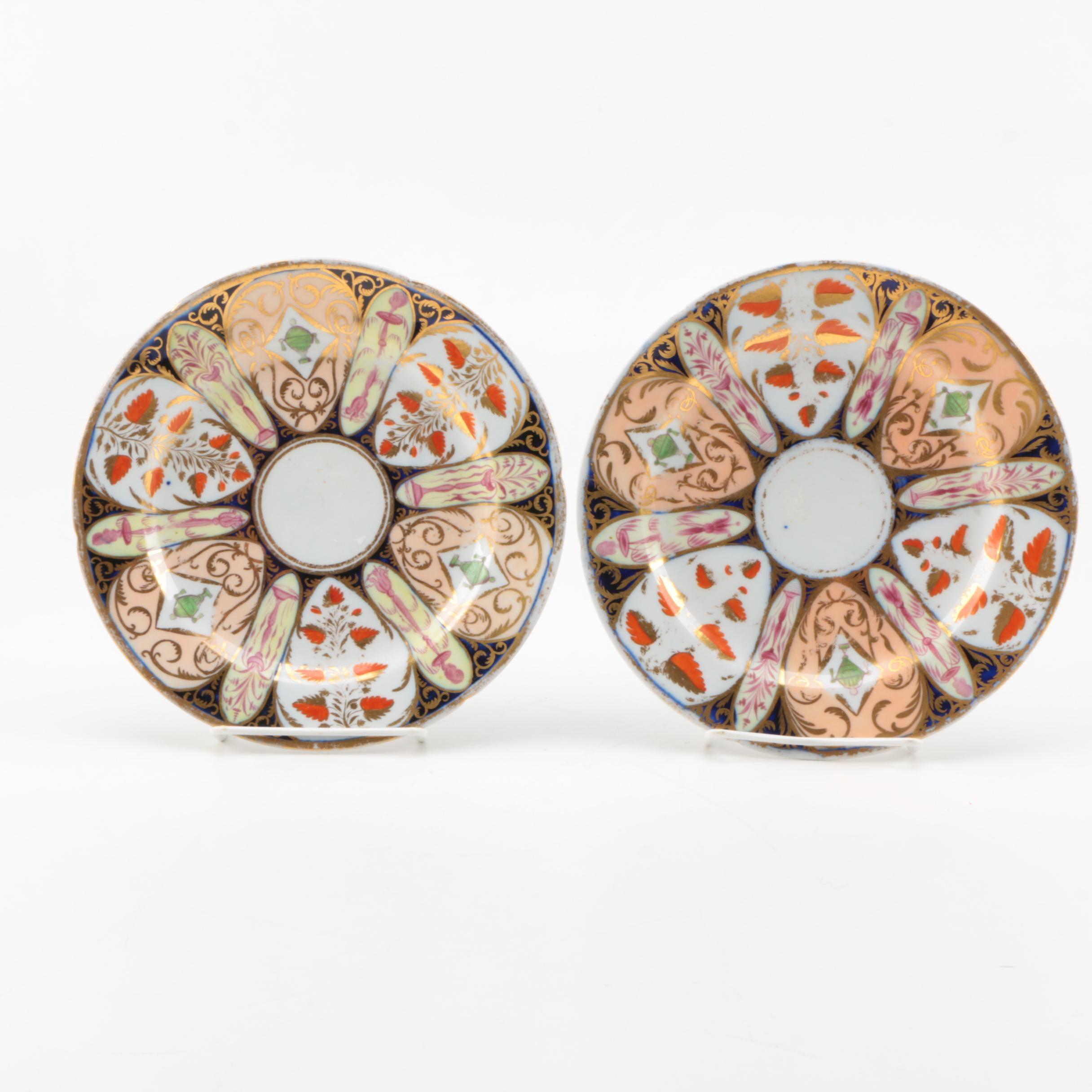 Mid-19th Century English Imari Porcelain Plates