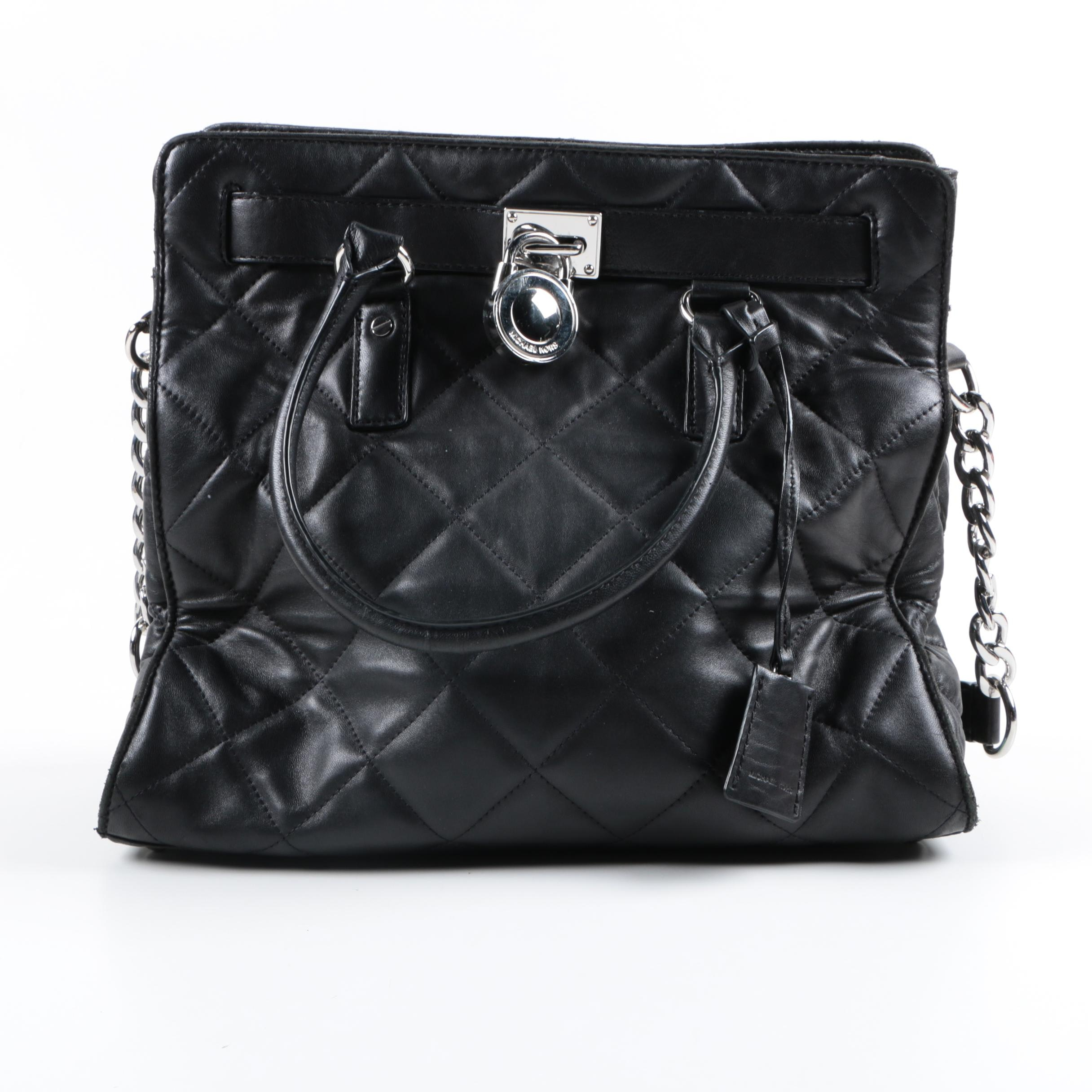 Michael by Michael Kors Black Quilted Leather Bag