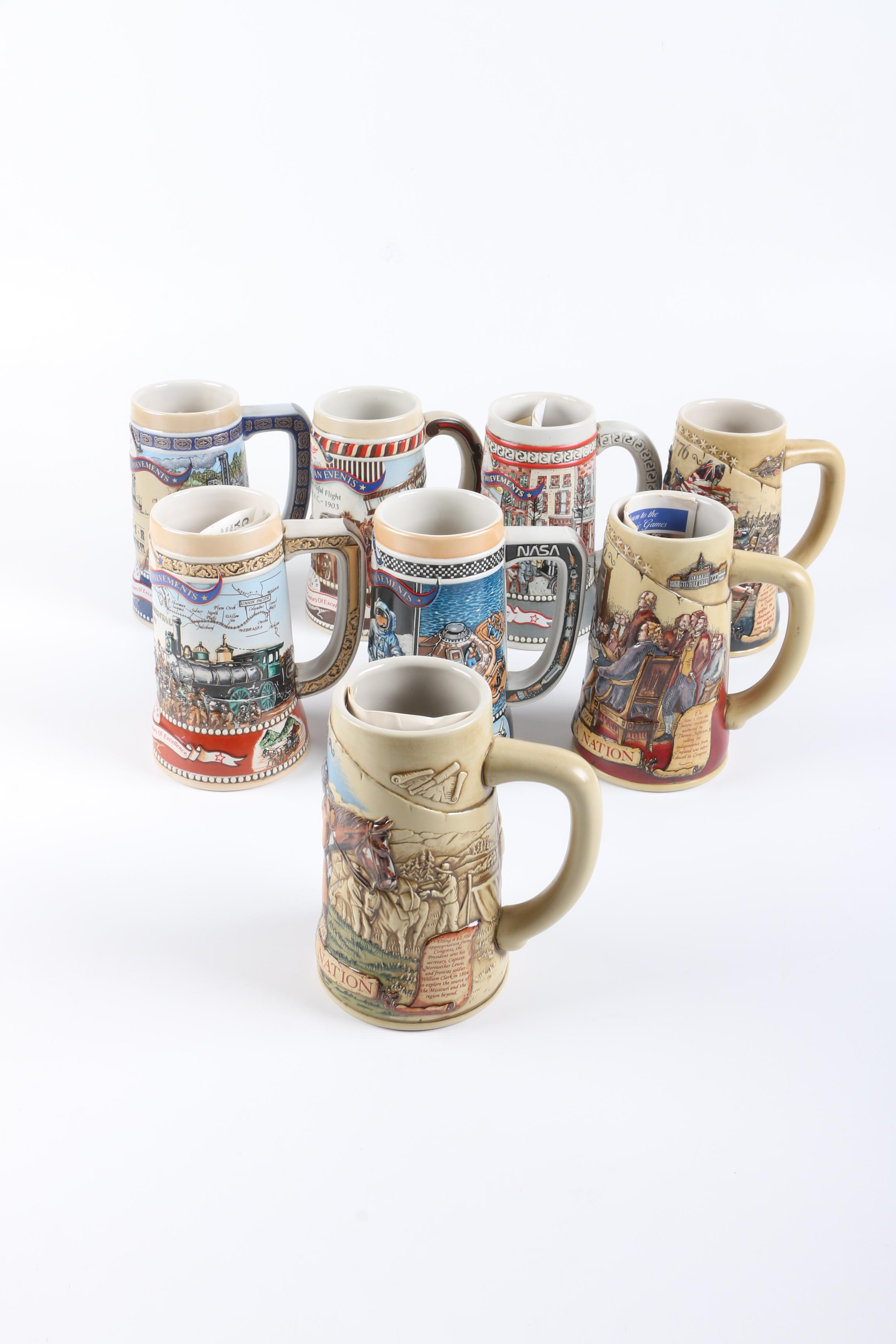 Limited Edition American History and Achievements Steins