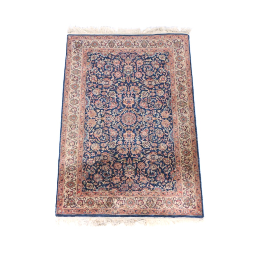 Hand Knotted Indo Persian Obeetee Wool Area Rug Ebth