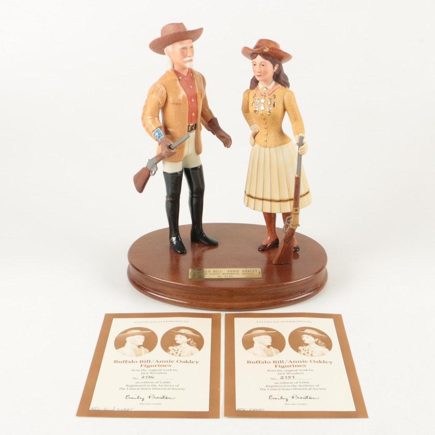 02d436fe690 Buffalo Bill and Annie Oakley Figurines   EBTH