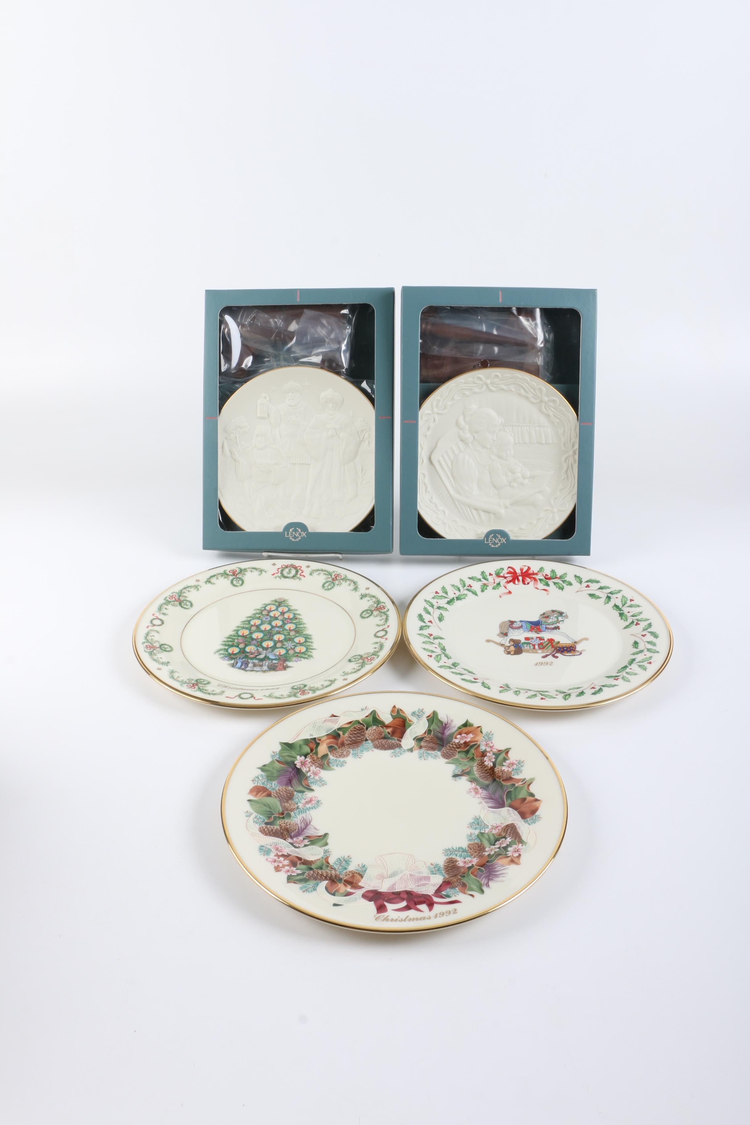 1990s Lenox Limited Edition Collector's Christmas Plates