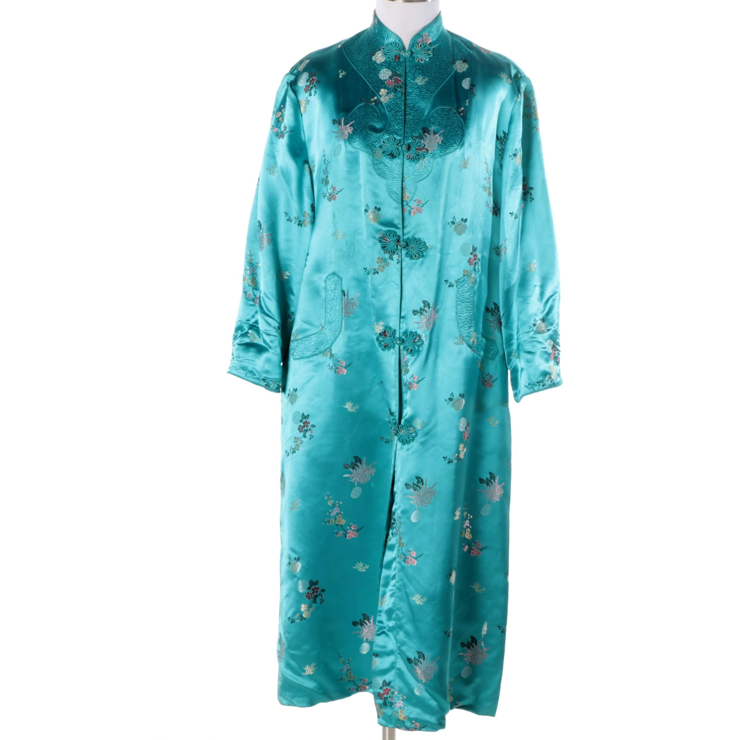 Vintage Chinese Style Brocade Robe by Mulchands Singapore