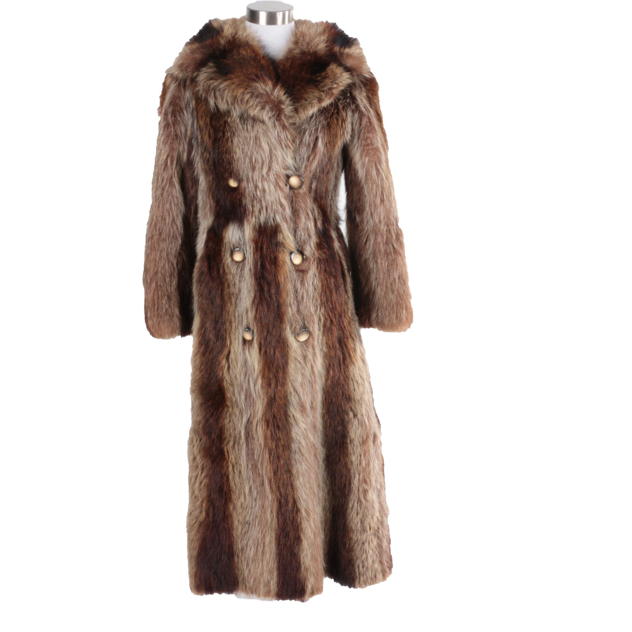 Raccoon Fur Full-Length Coat