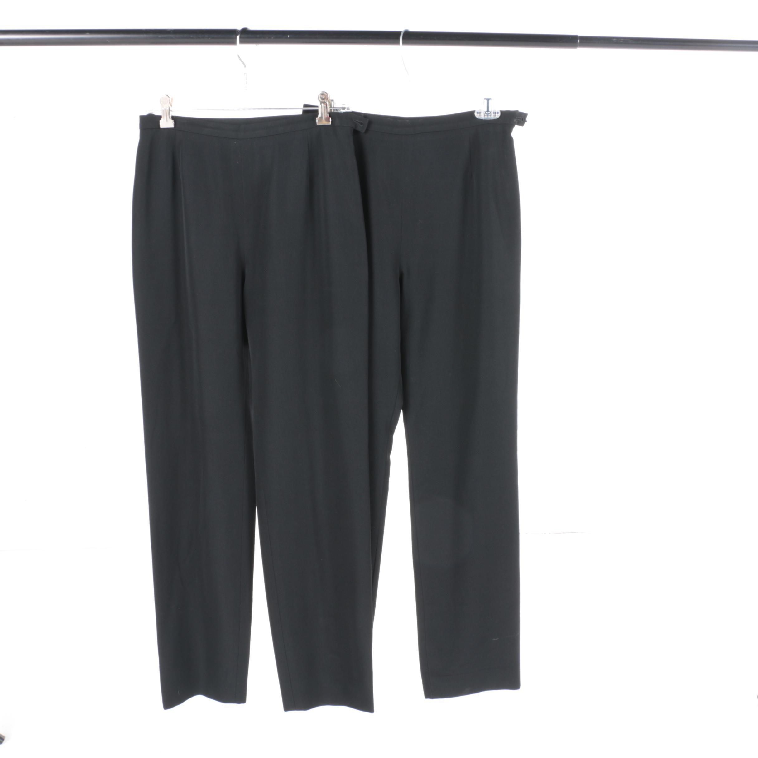 Chanel Black Wool Pants