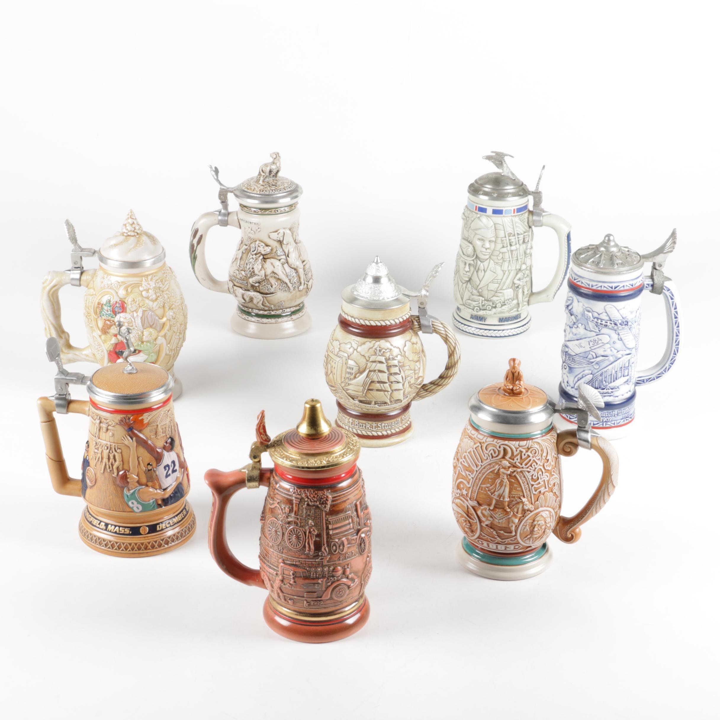Avon Lidded Stein Collection