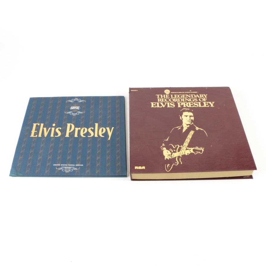 Elvis Presley Lps And Usps Stamp Collection Ebth