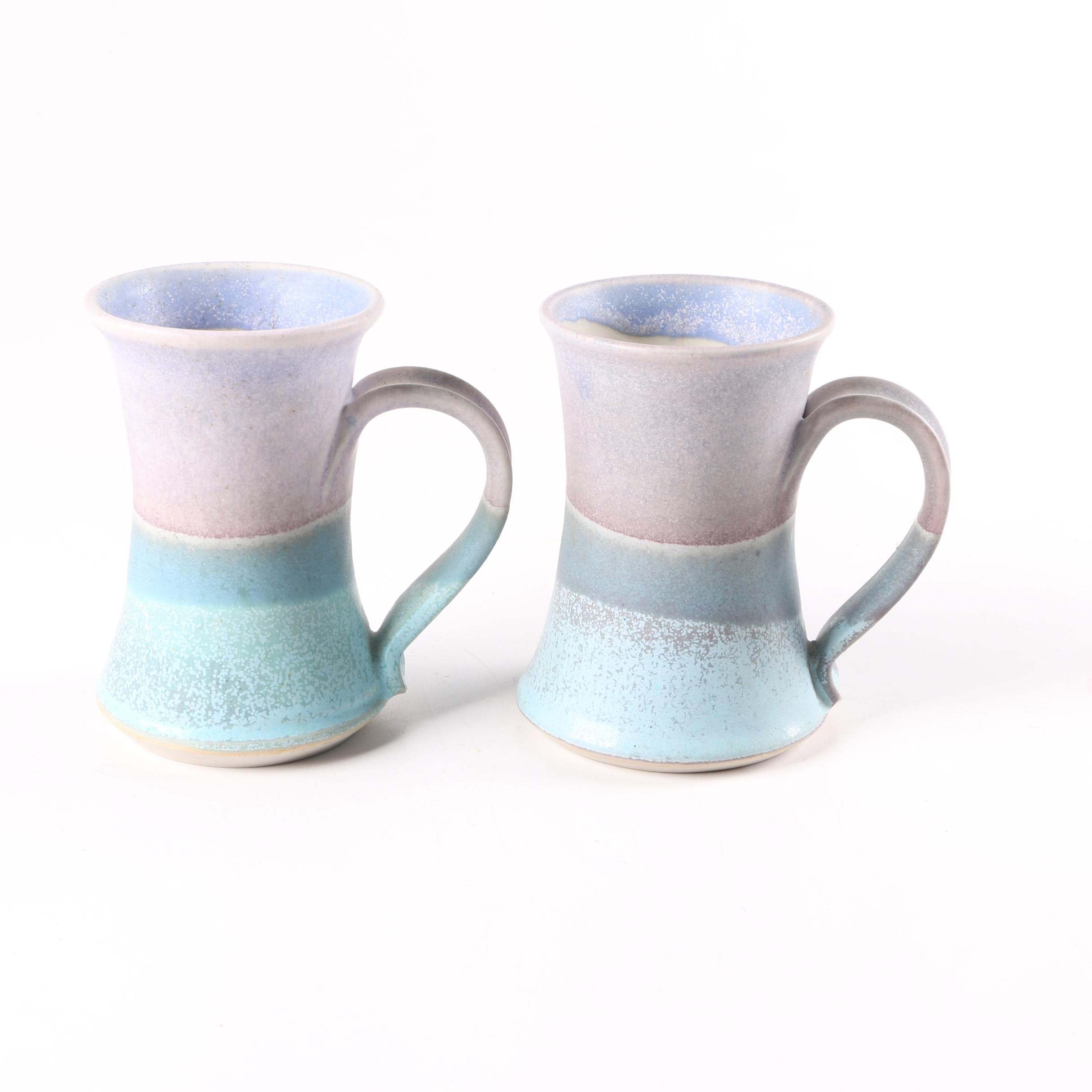 Signed Stoneware Mugs