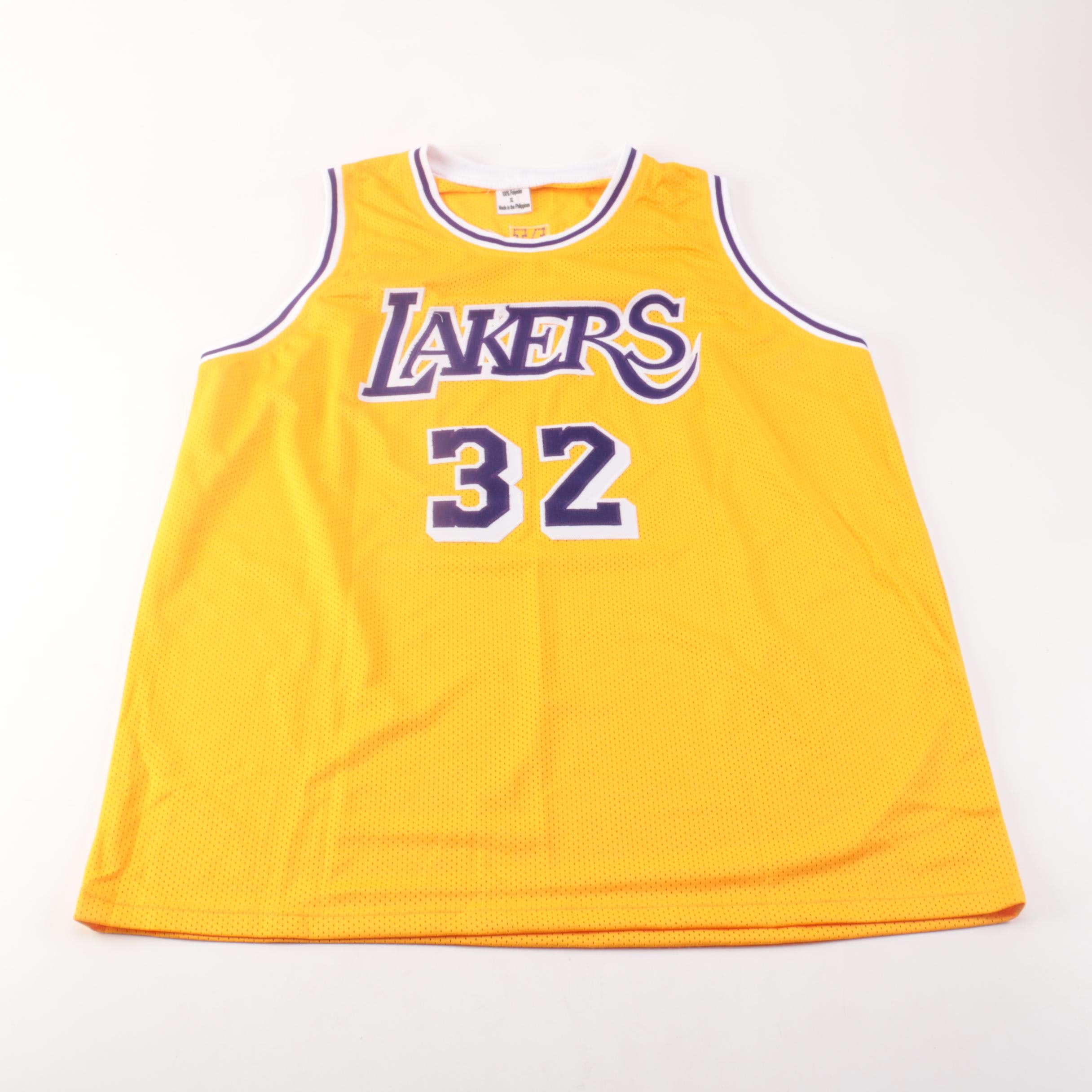 Magic Johnson Autographed Jersey PSA COA
