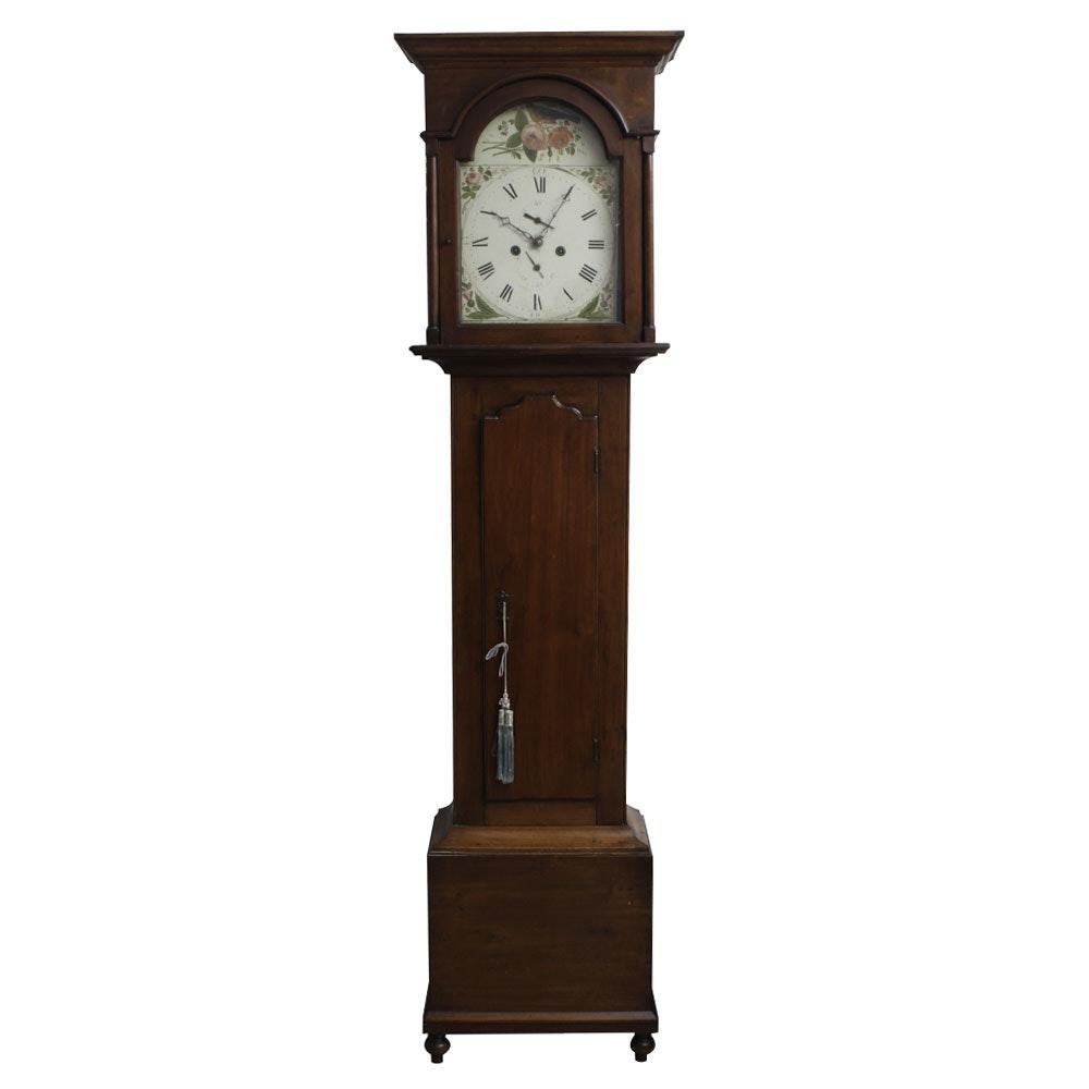 Antique Hand-Painted R. Mason of Kelso Longcase Clock