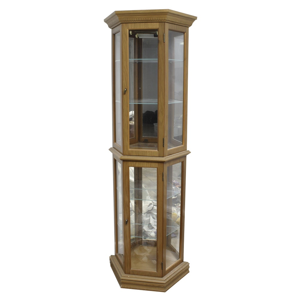 Three Sided Lighted Display Cabinet