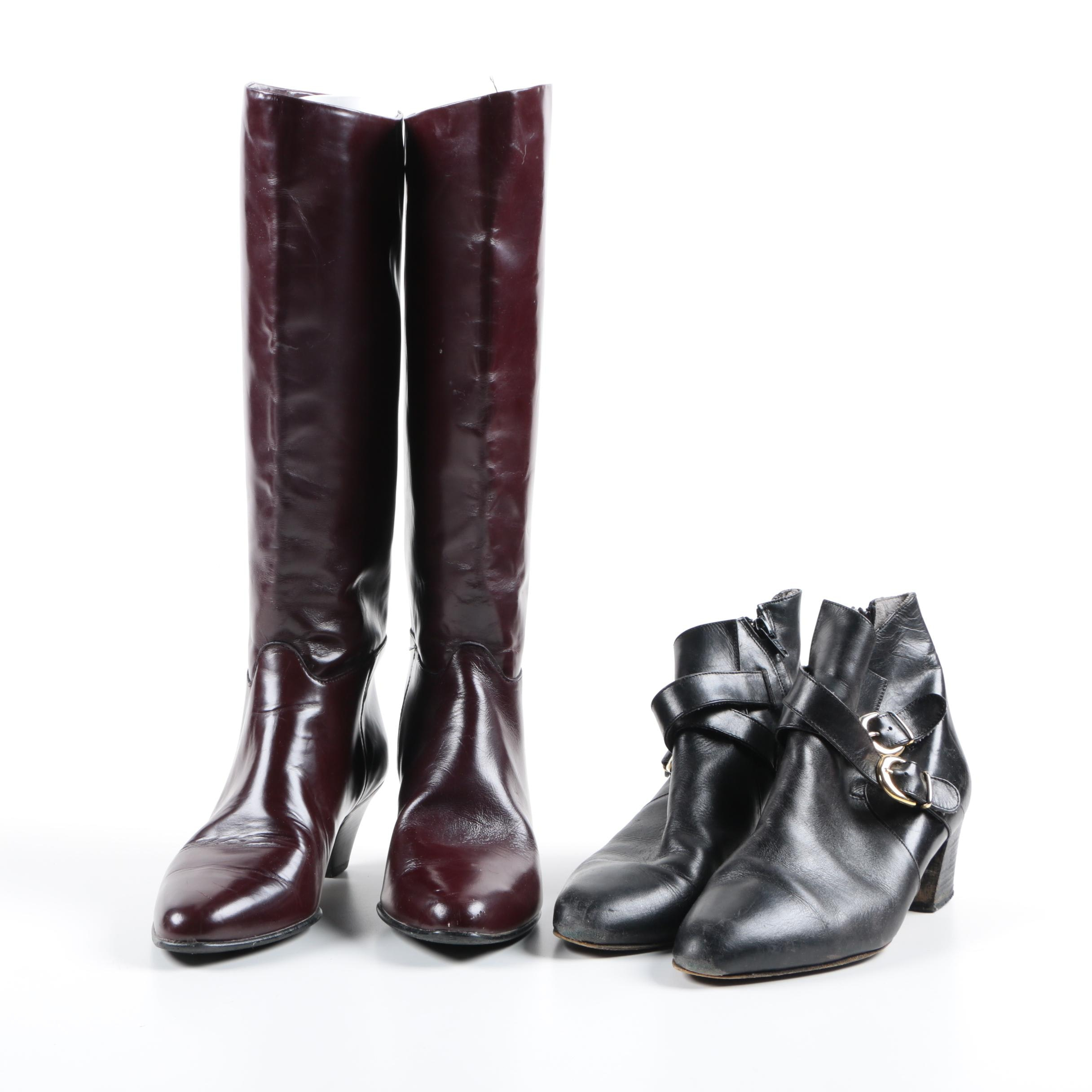 Women's Leather Boots Including Charles David