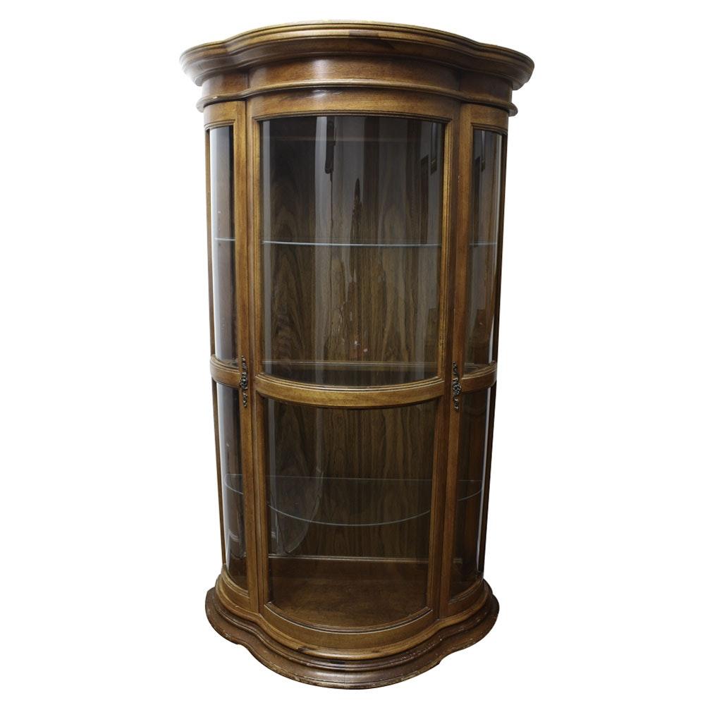Tri-Bowed Curio Cabinet