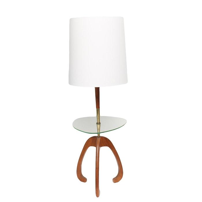 Mid Century Modern Tray Table Floor Lamp