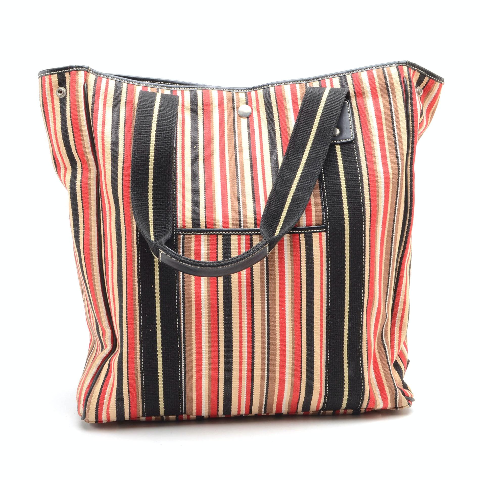 Striped Tote Bag by Rafè of New York