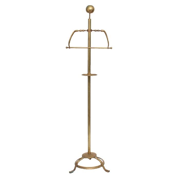 Vintage Brass Valet Stand