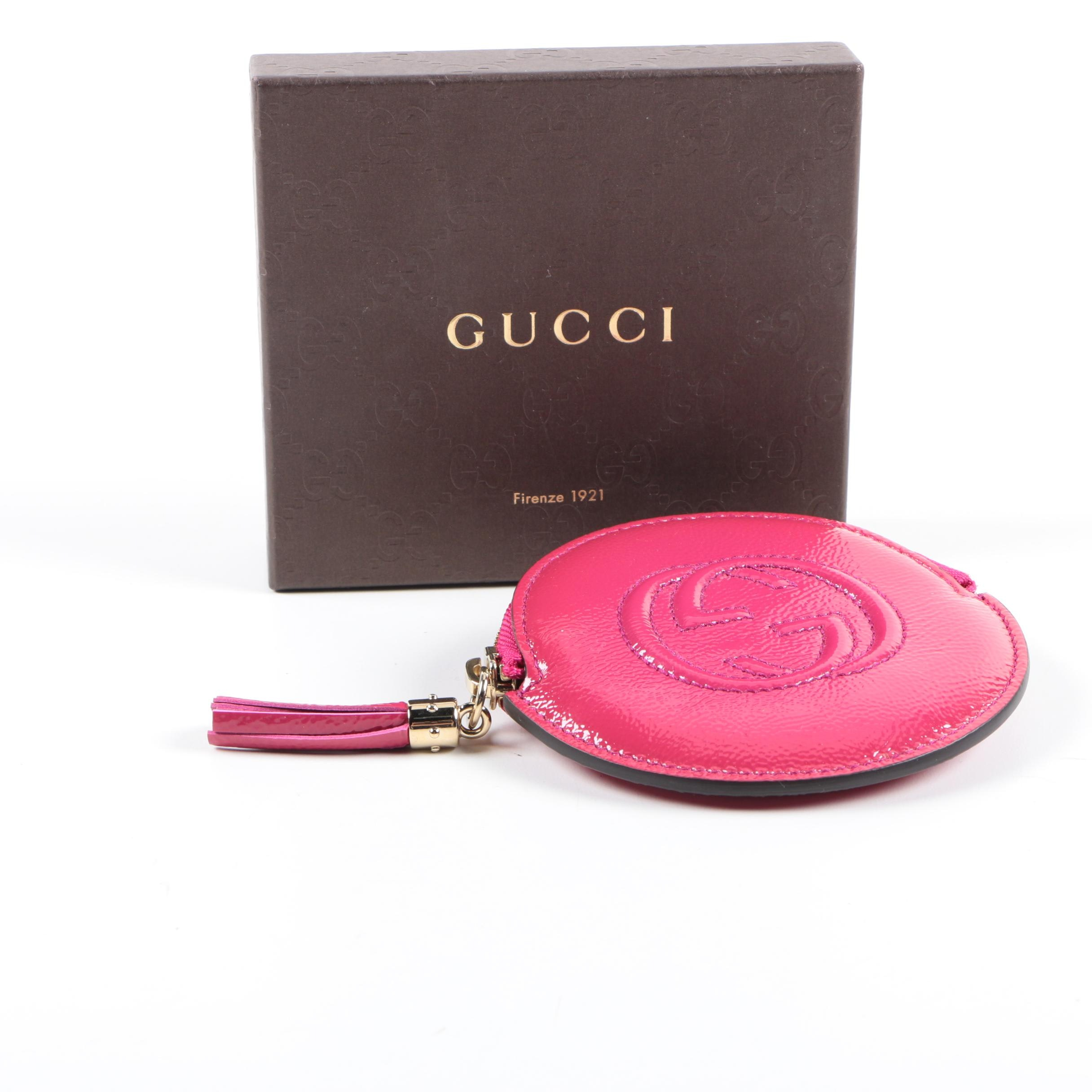 Gucci Soho Patent Leather Coin Purse