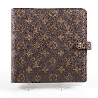 Louis Vuitton Monogram Agenda Scrapbook Organizer