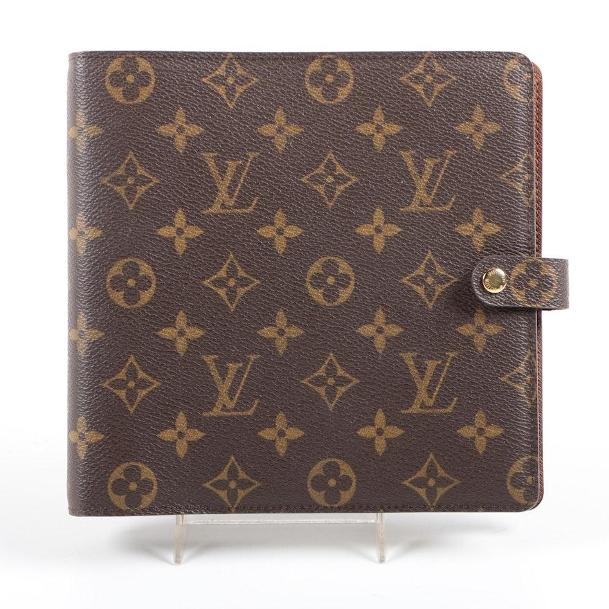 Louis Vuitton Monogram Agenda Scrapbook Organizer
