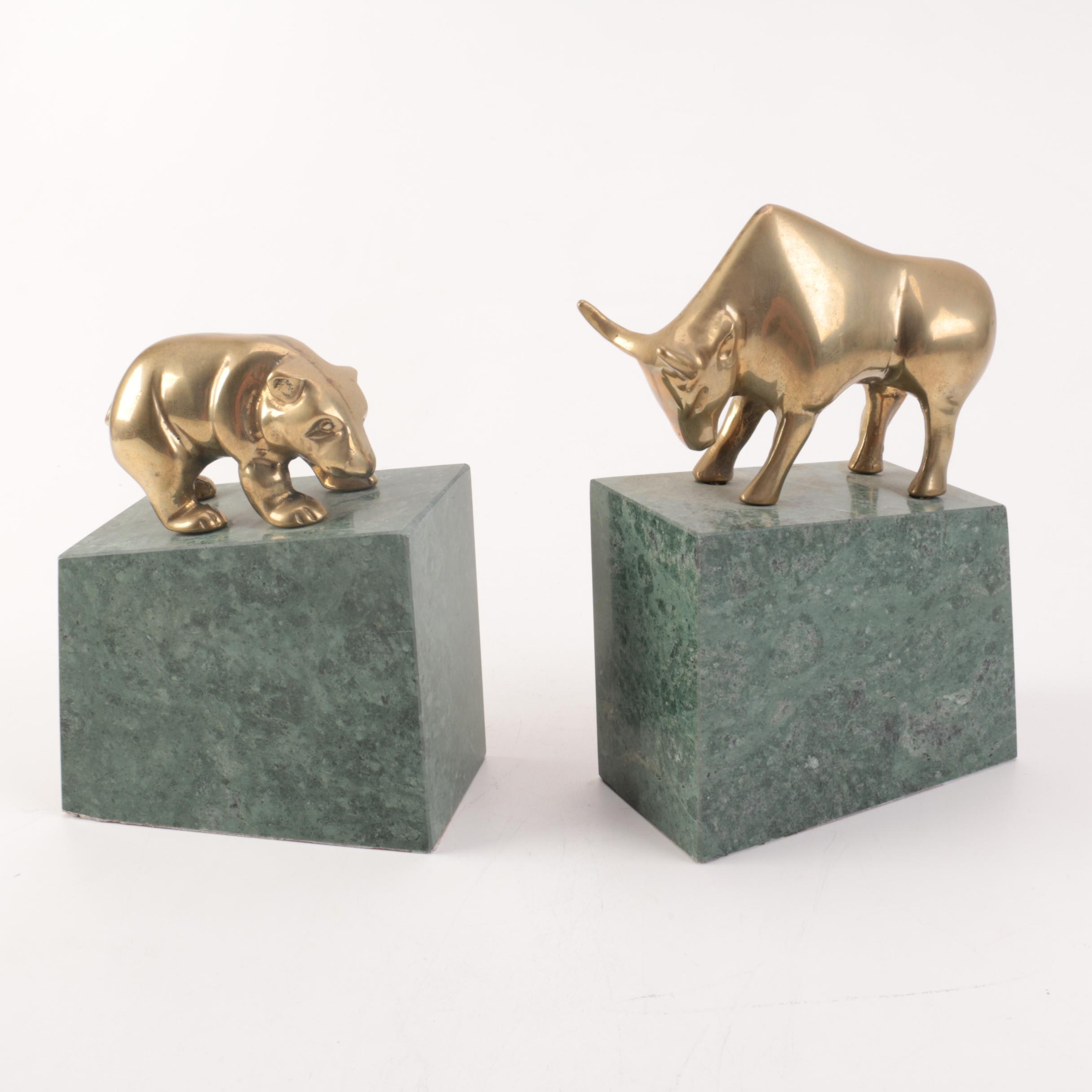 Brass Bookends from Andrea by Sadek