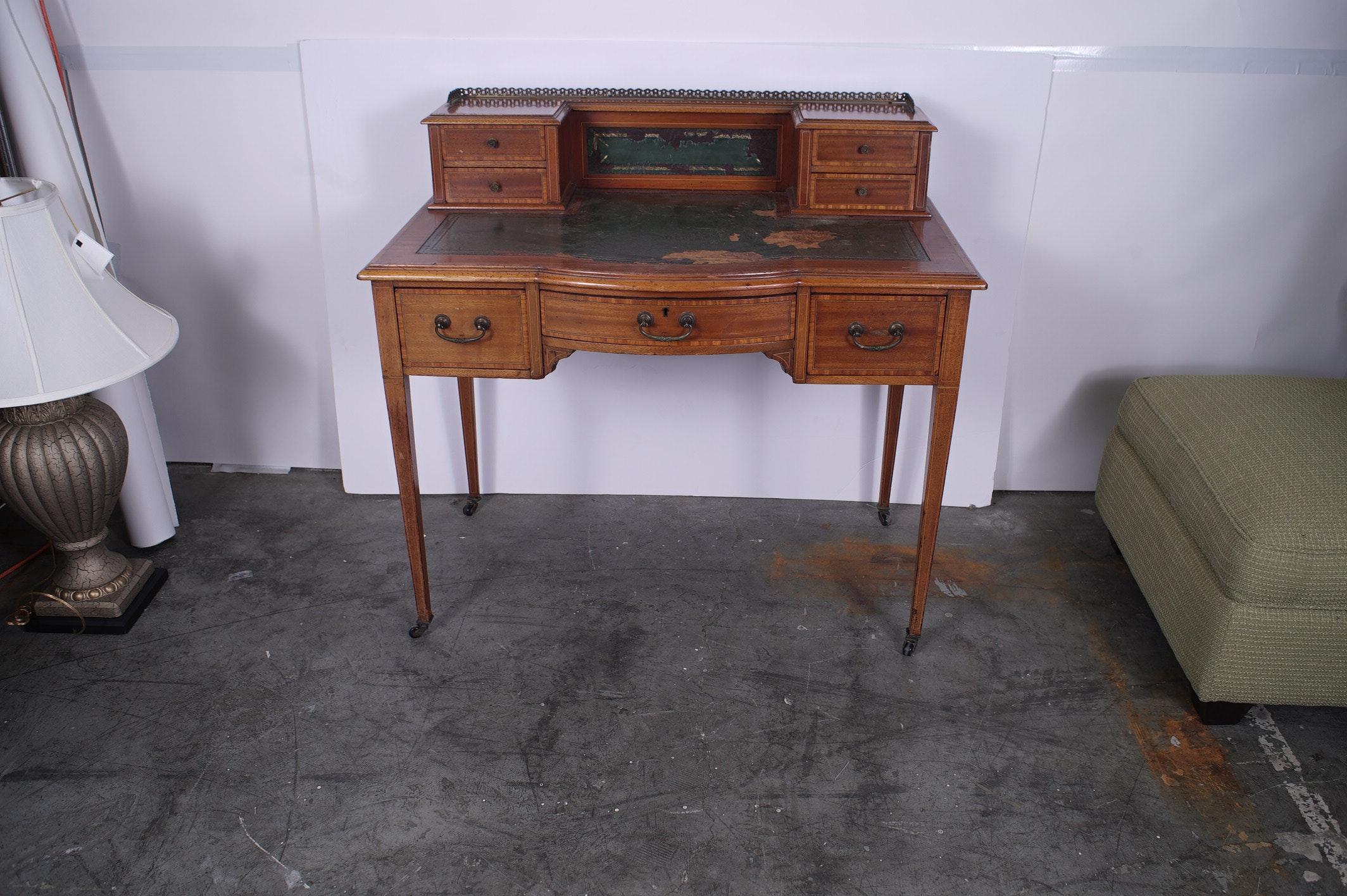 Vintage Neoclassical Mahogany Writing Desk