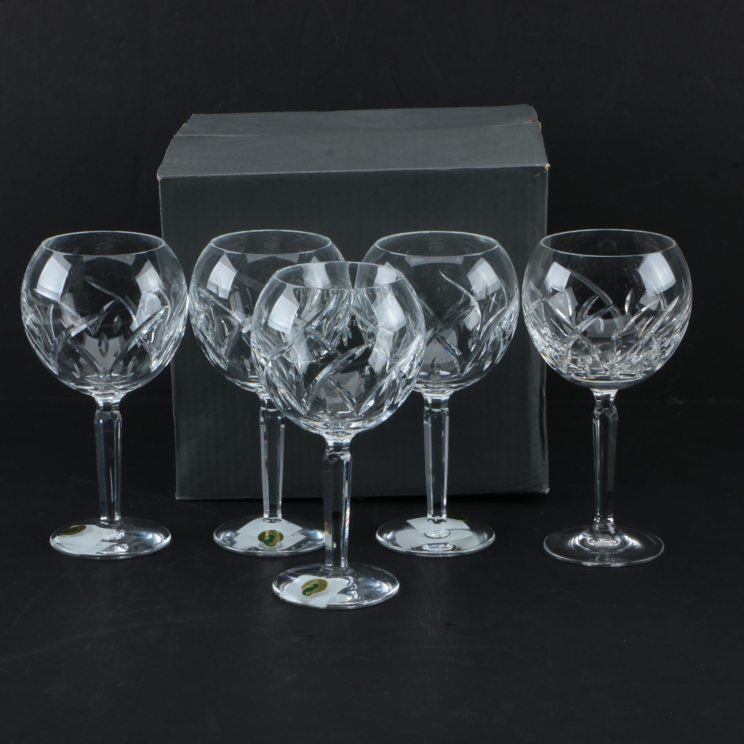 "Waterford  Crystal ""Lucerne"" Balloon Wine Glasses"